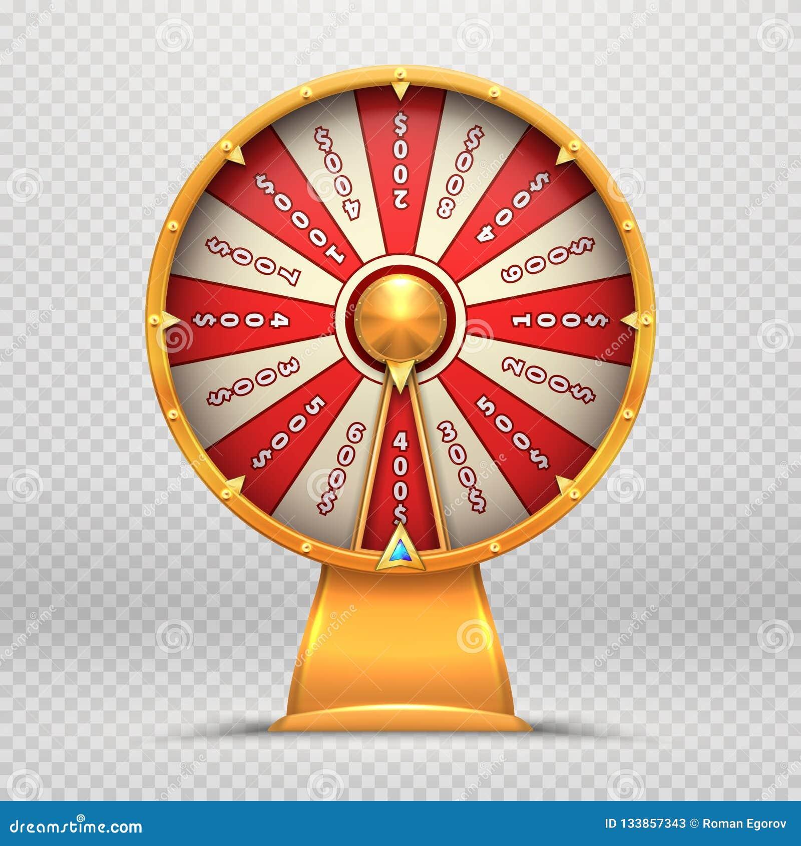 Колесо удачи Поворачивая рулетка 3d катит иллюстрацию удачливой игры лотереи играя в азартные игры изолированную символом