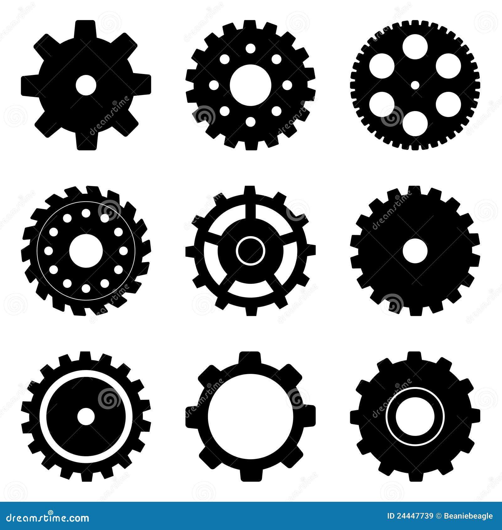 колесо cog установленное
