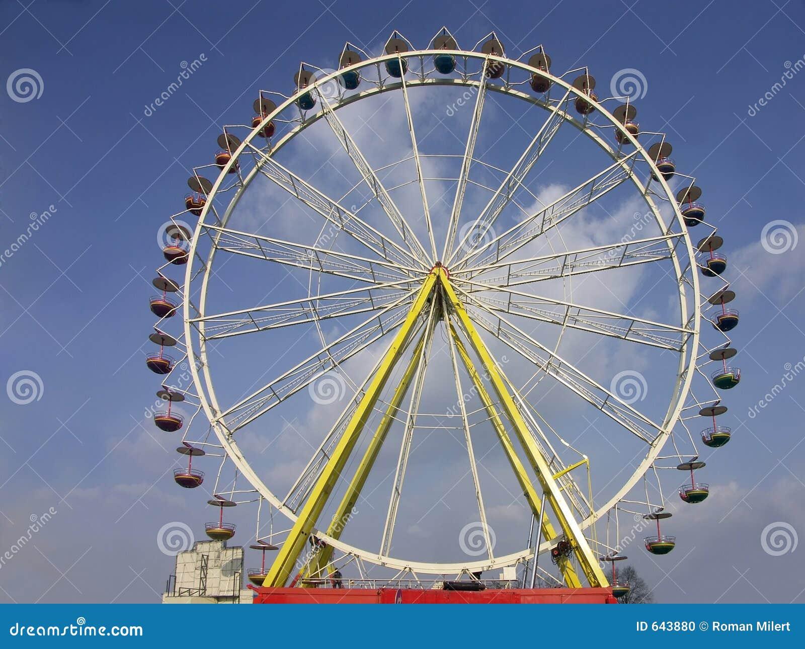 Download колесо ferris стоковое фото. изображение насчитывающей ferris - 643880