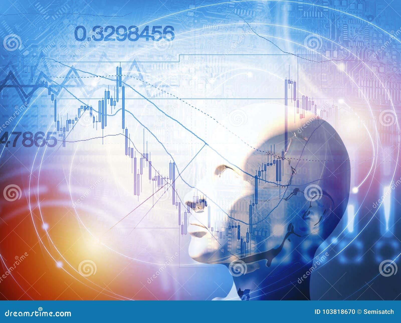 Количественная концепция запаса и валют торгуя с искусственным интеллектом