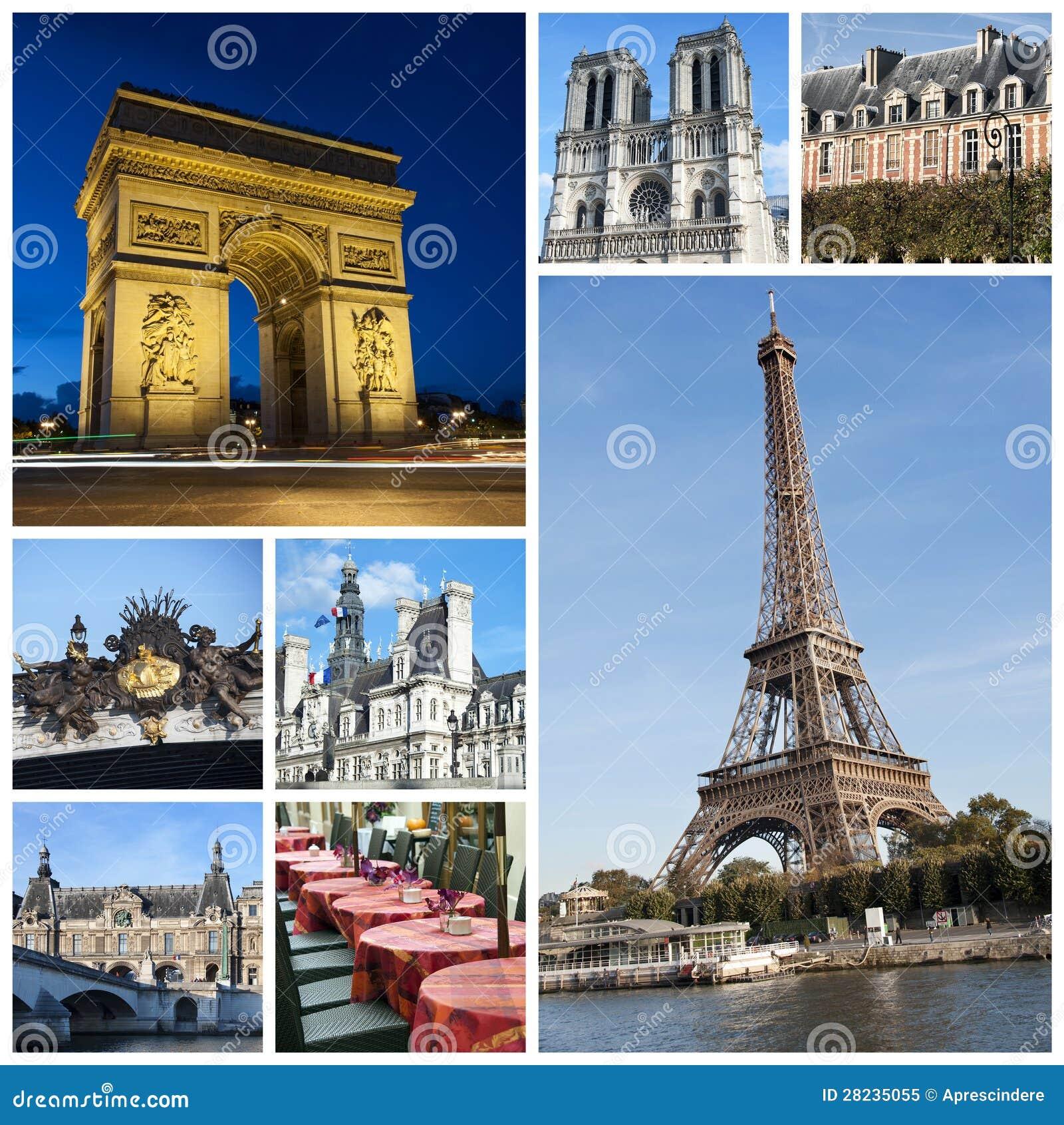 Коллаж Парижа
