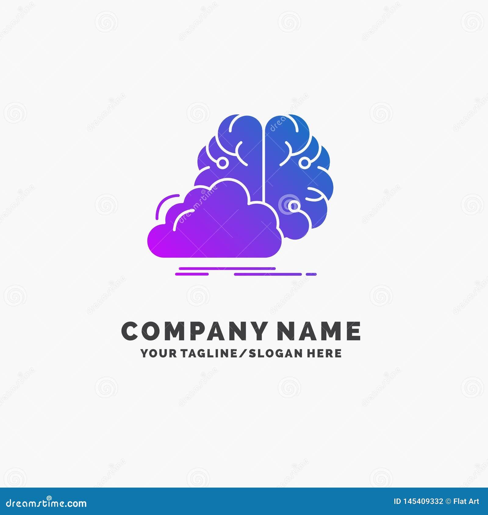 коллективно обсуждать, творческий, идея, нововведение, шаблон логотипа дела воодушевленности пурпурный r