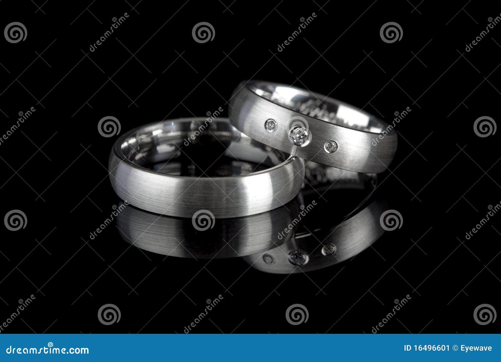 кольца предпосылки черные wedding
