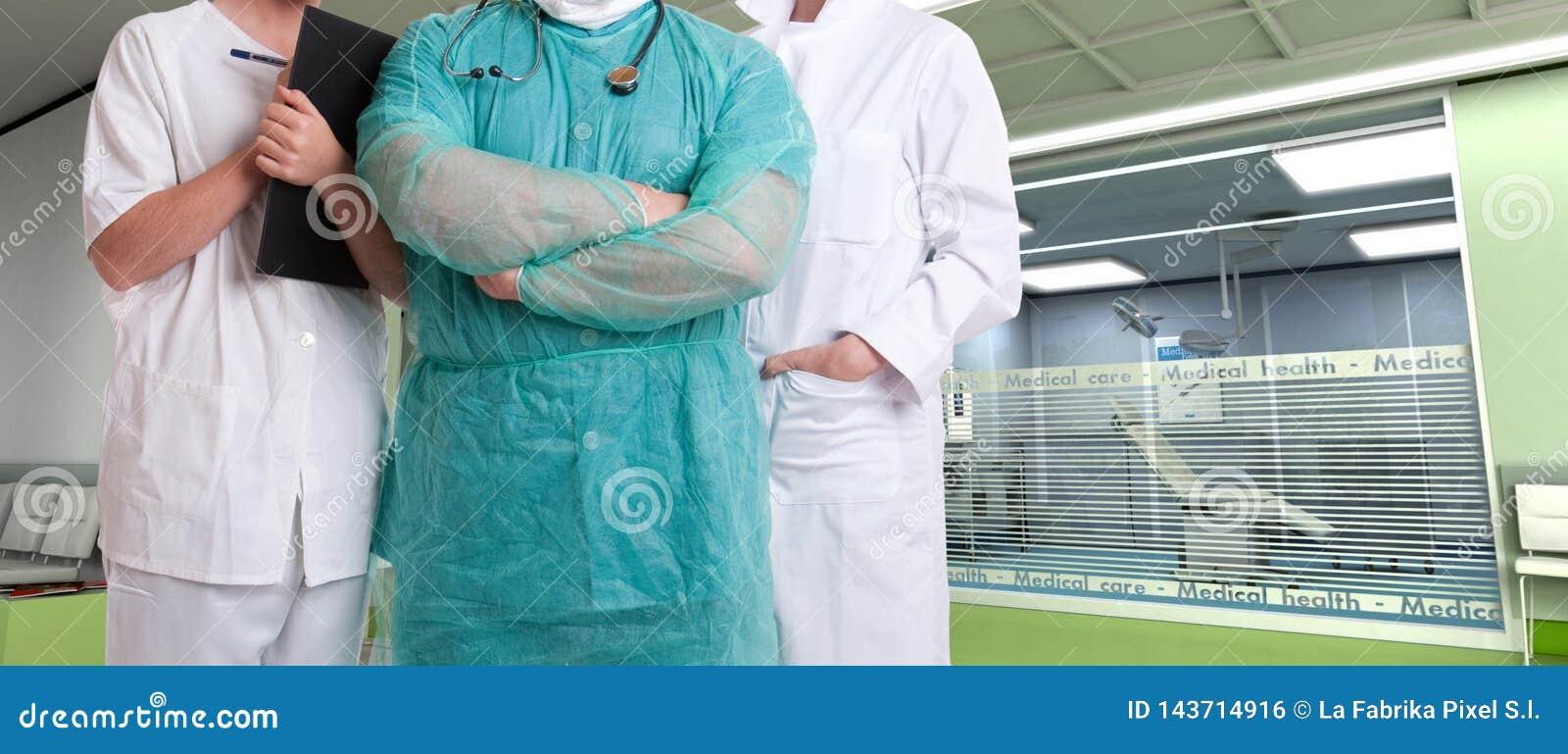 Команда здравоохранения на больнице