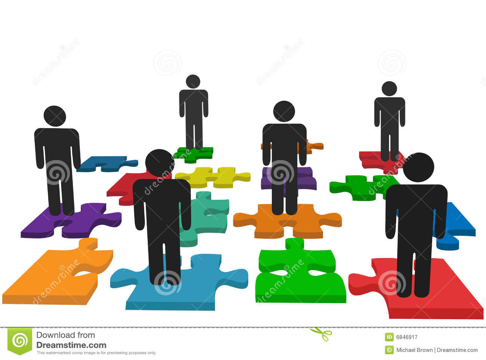 команда символа стойки головоломки частей людей зигзага
