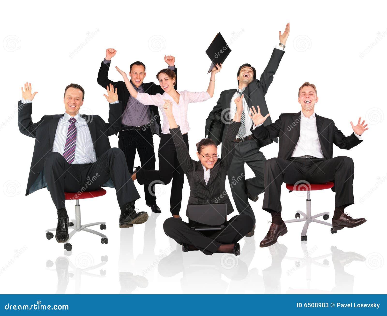 команда стула дела счастливая