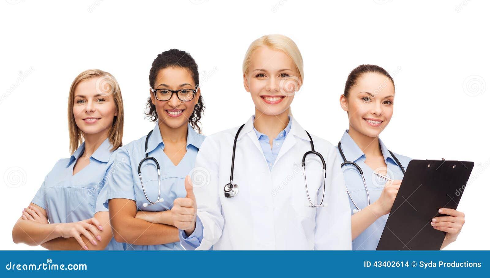 Команда или группа в составе доктора и медсестры