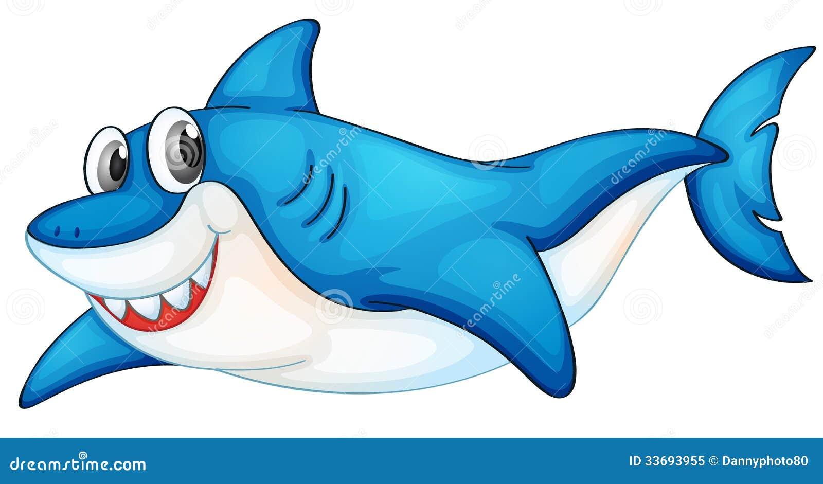 Комичная иллюстрация акулы