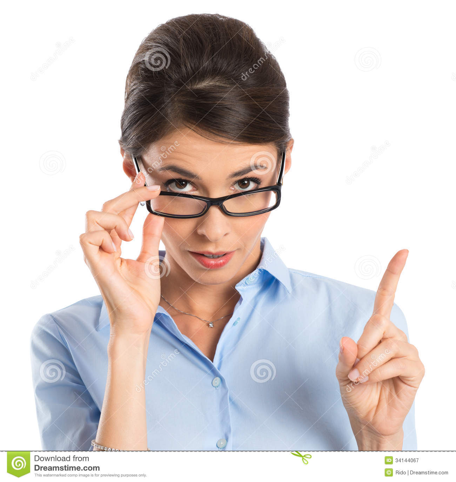 Коммерсантка держа Eyeglasses