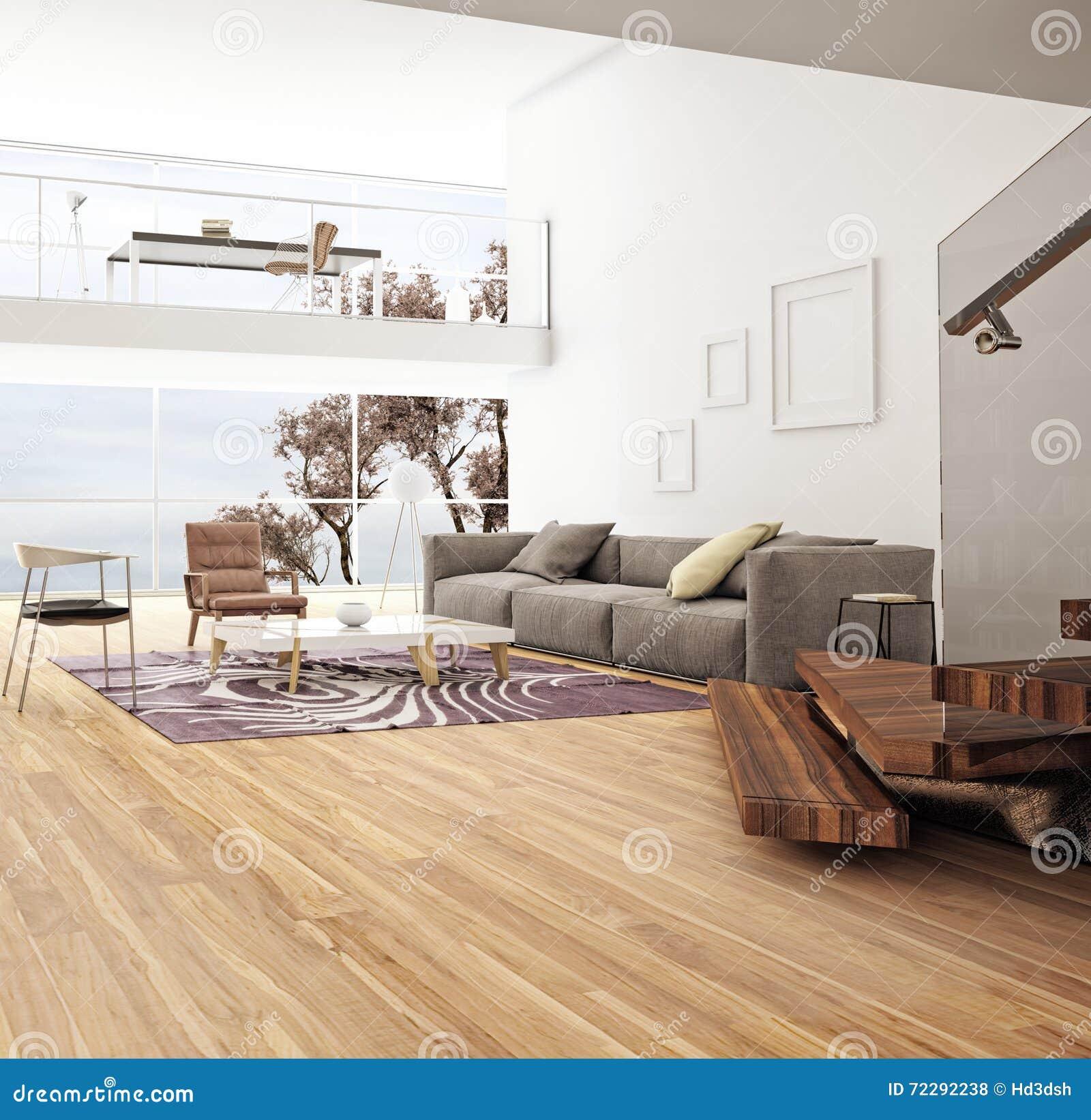 Download комната интерьера конструкции живя самомоднейшая Стоковое Фото - изображение насчитывающей стул, подушка: 72292238
