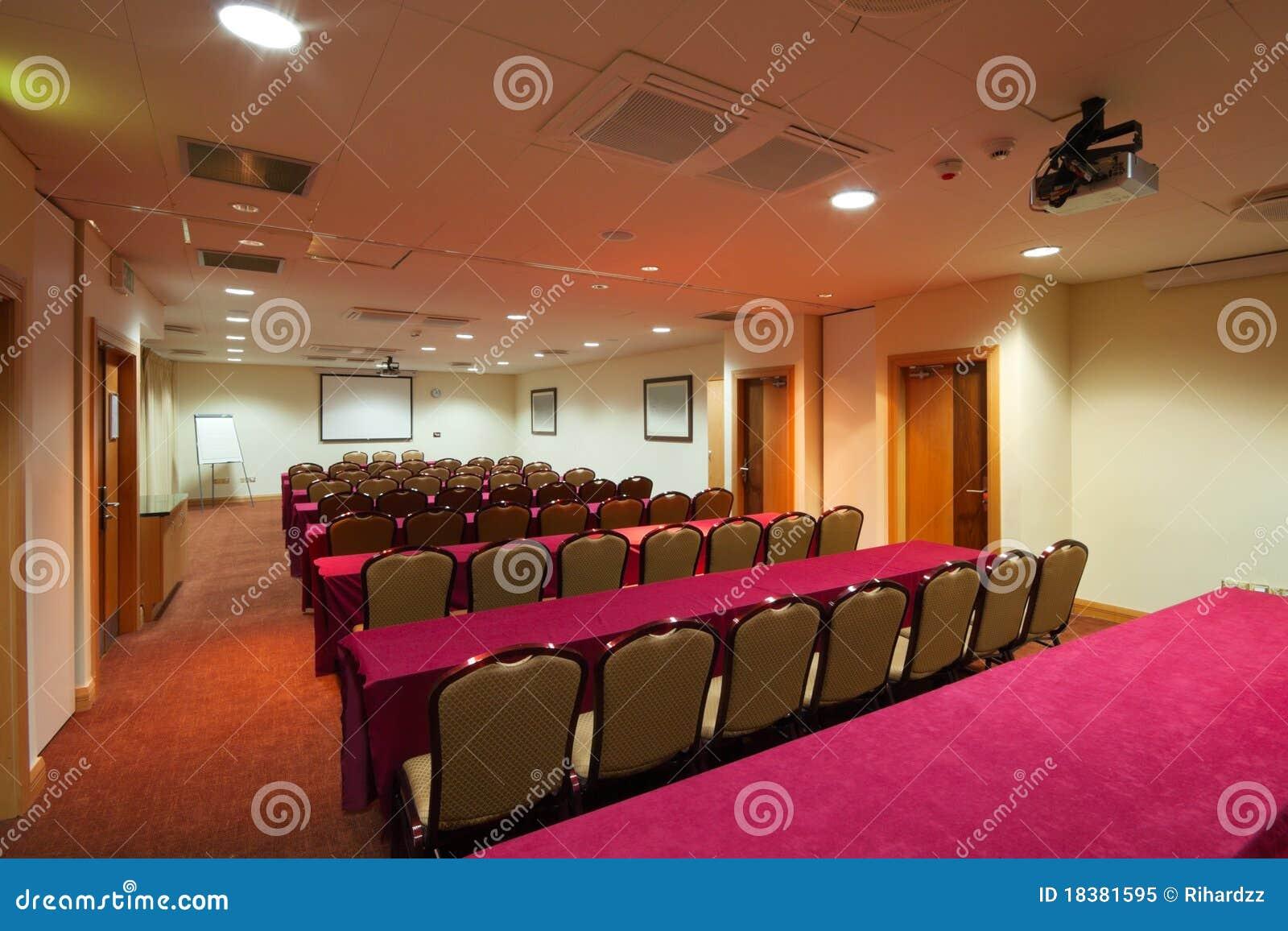 комната интерьера конференции