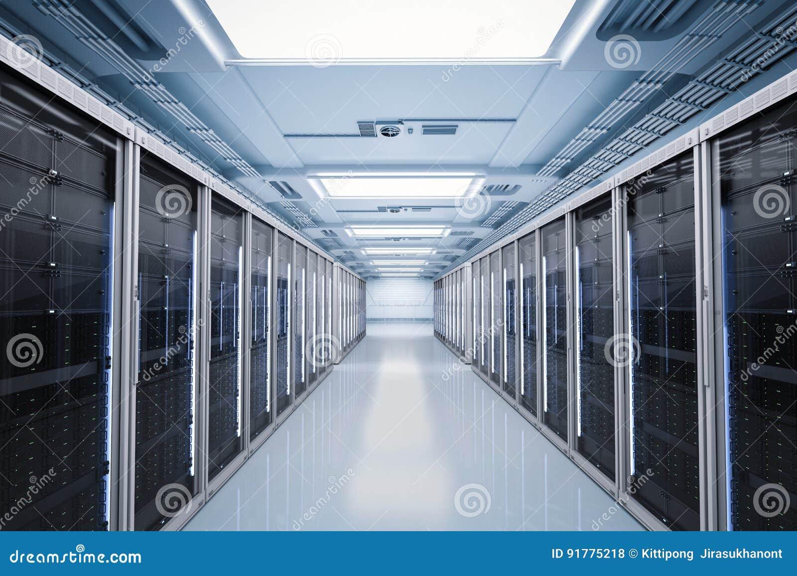 Комната или компьютер-серверы сервера
