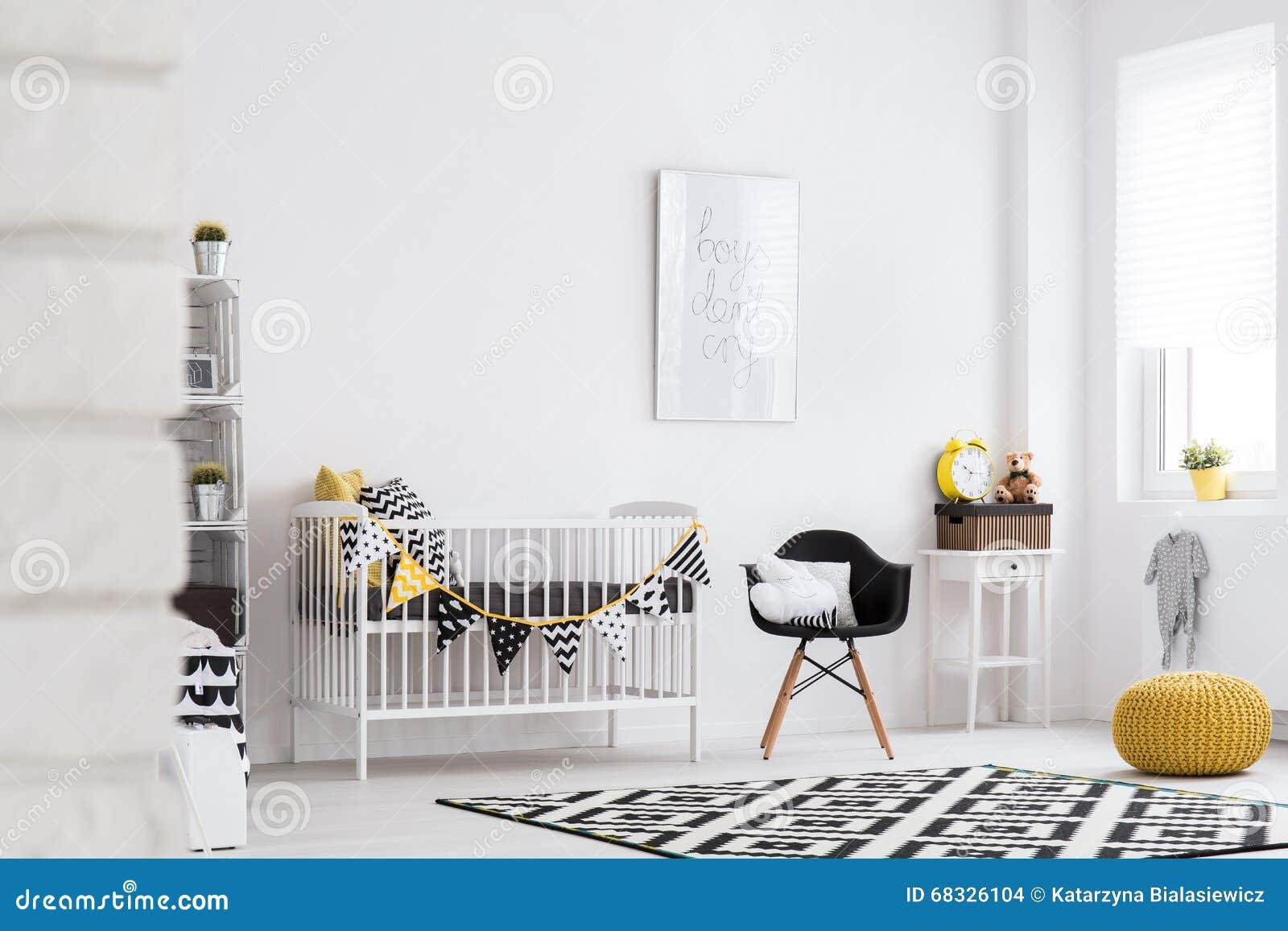 Комната младенца вполне тепла и стиля