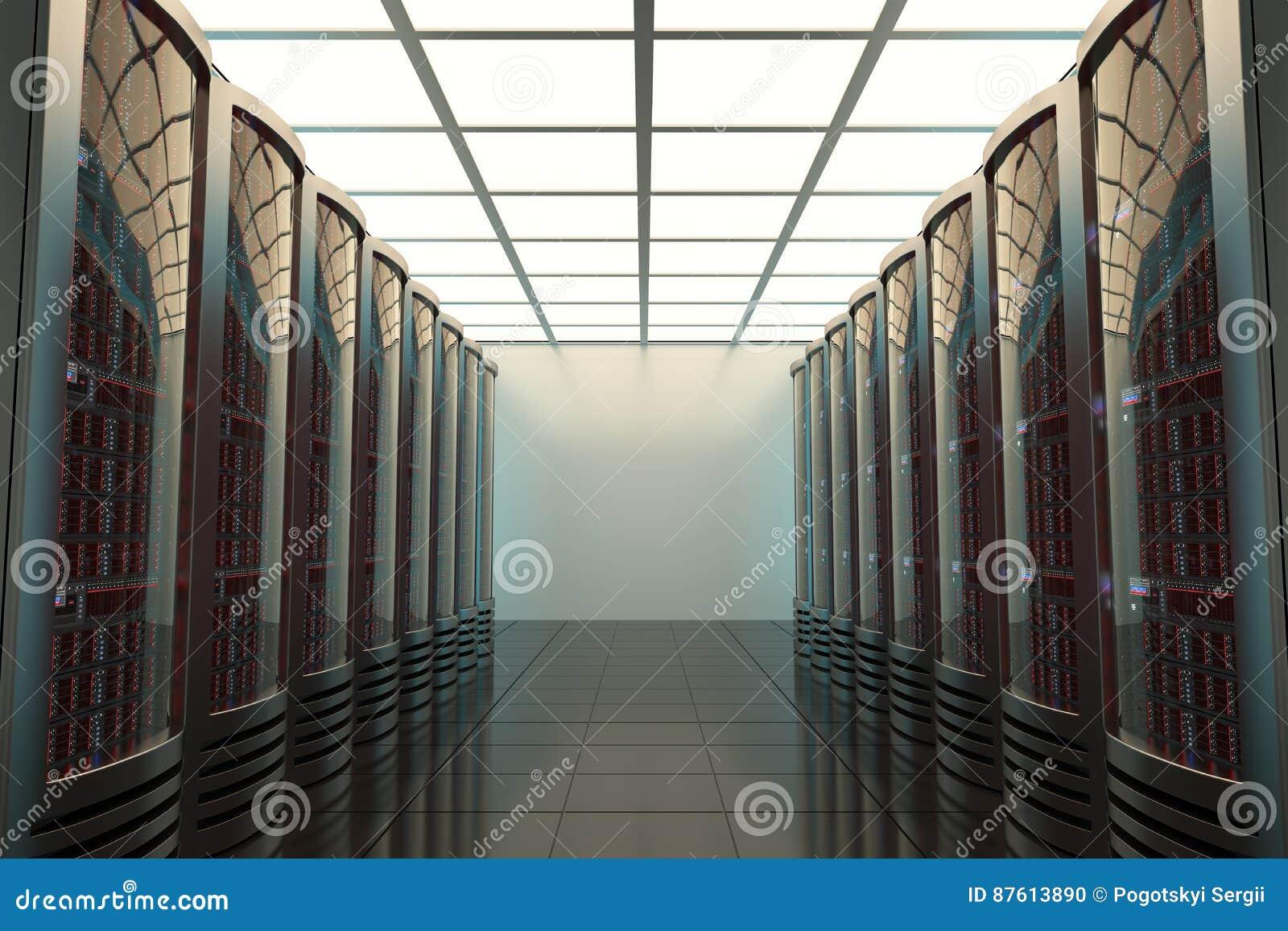Комната сервера, радиосвязи, защита данных, 3d