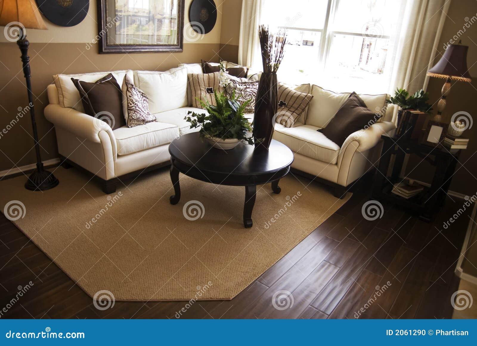 комната твёрдой древесины настила живущая