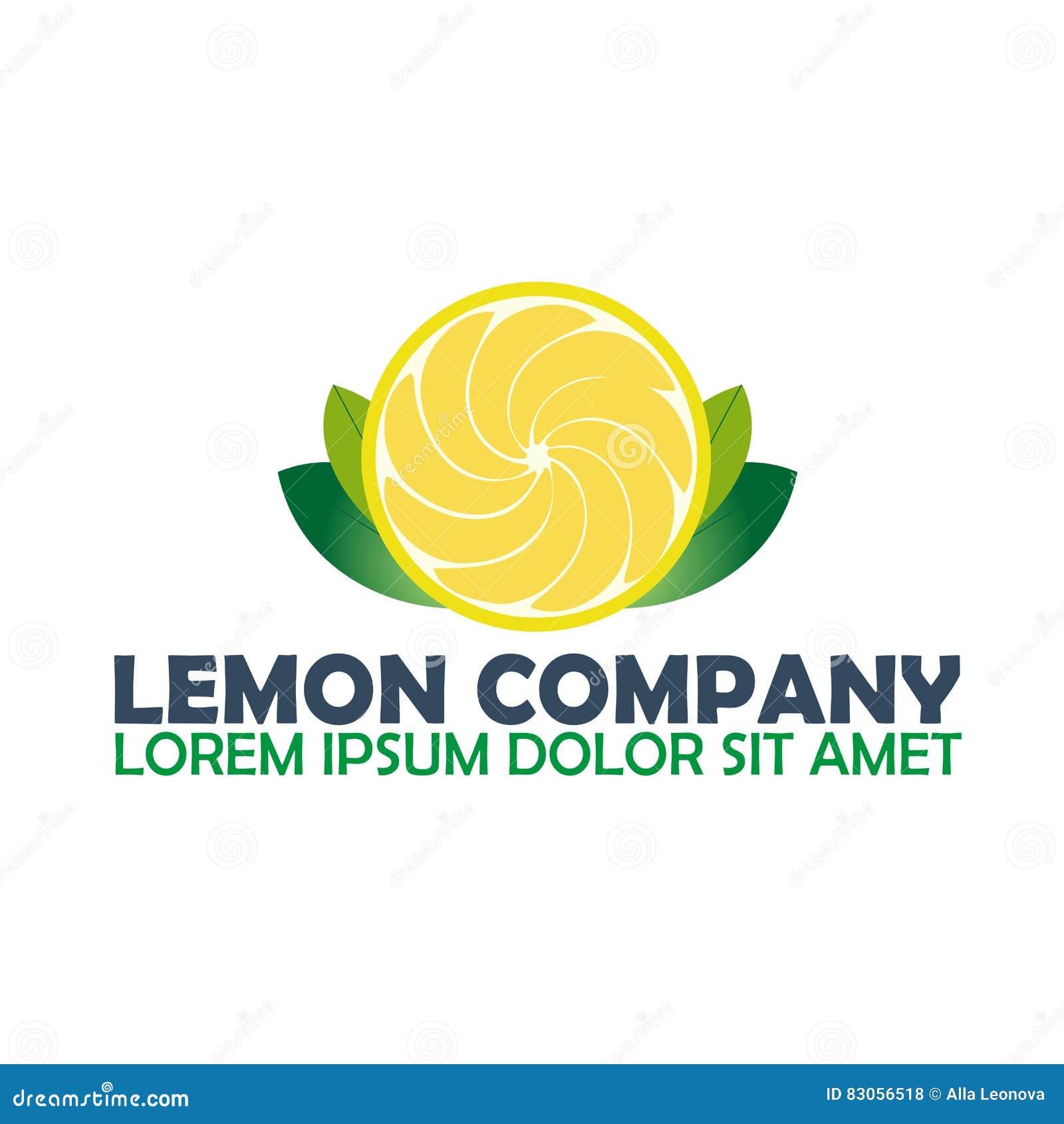 Компания логотипа лимона Цитрус Иллюстрация логотипа вектора
