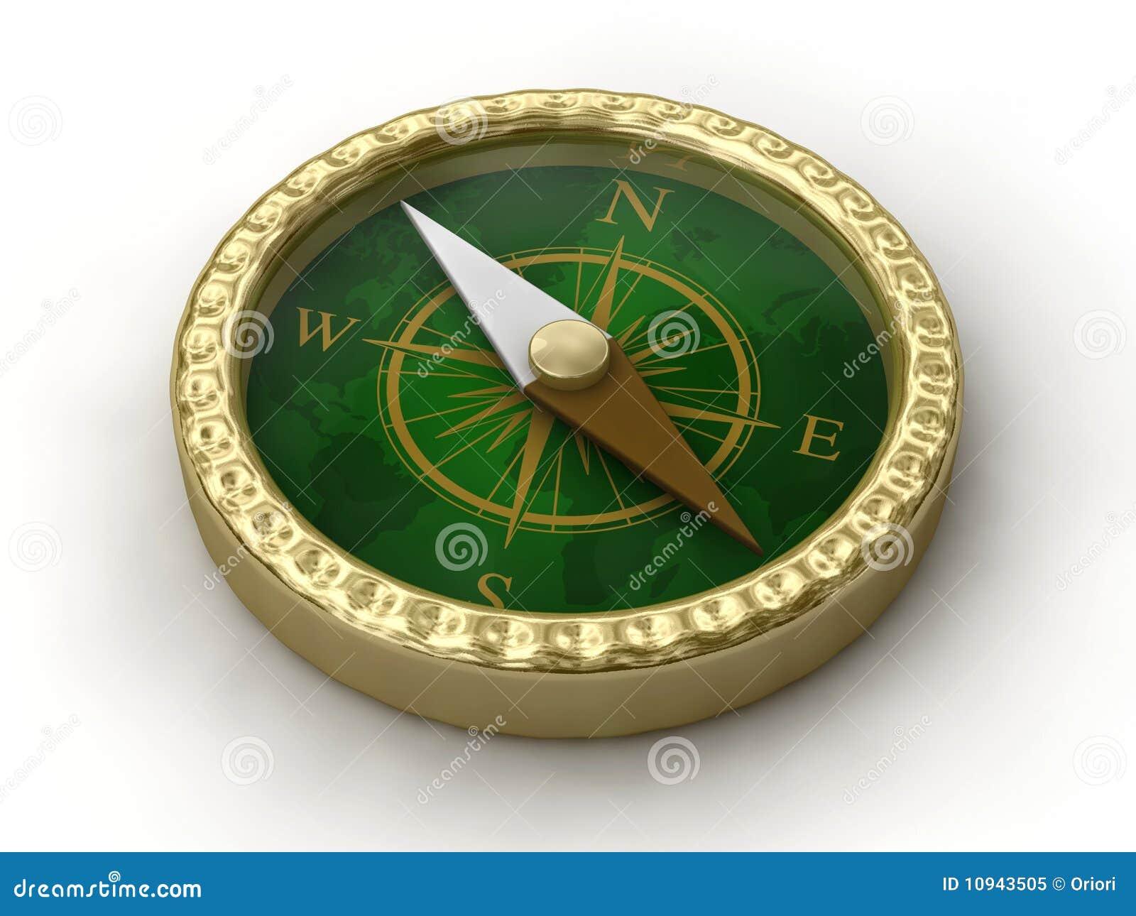 компас золотистый