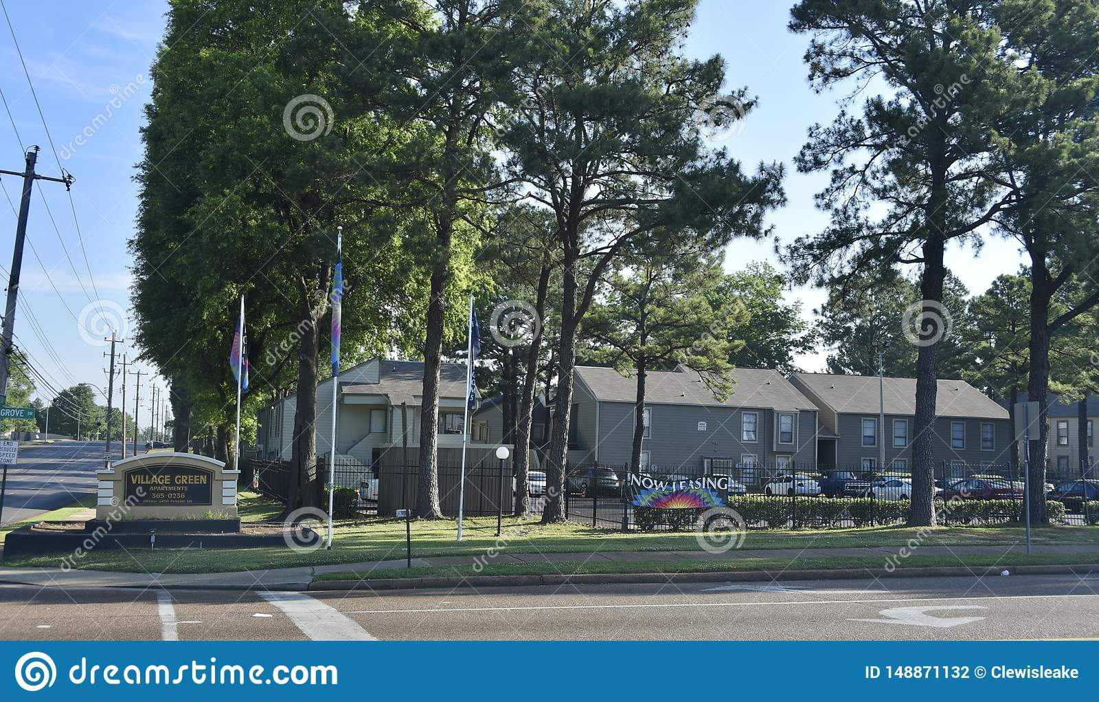 Комплексы апартаментов зеленого цвета деревни, Мемфис, TN