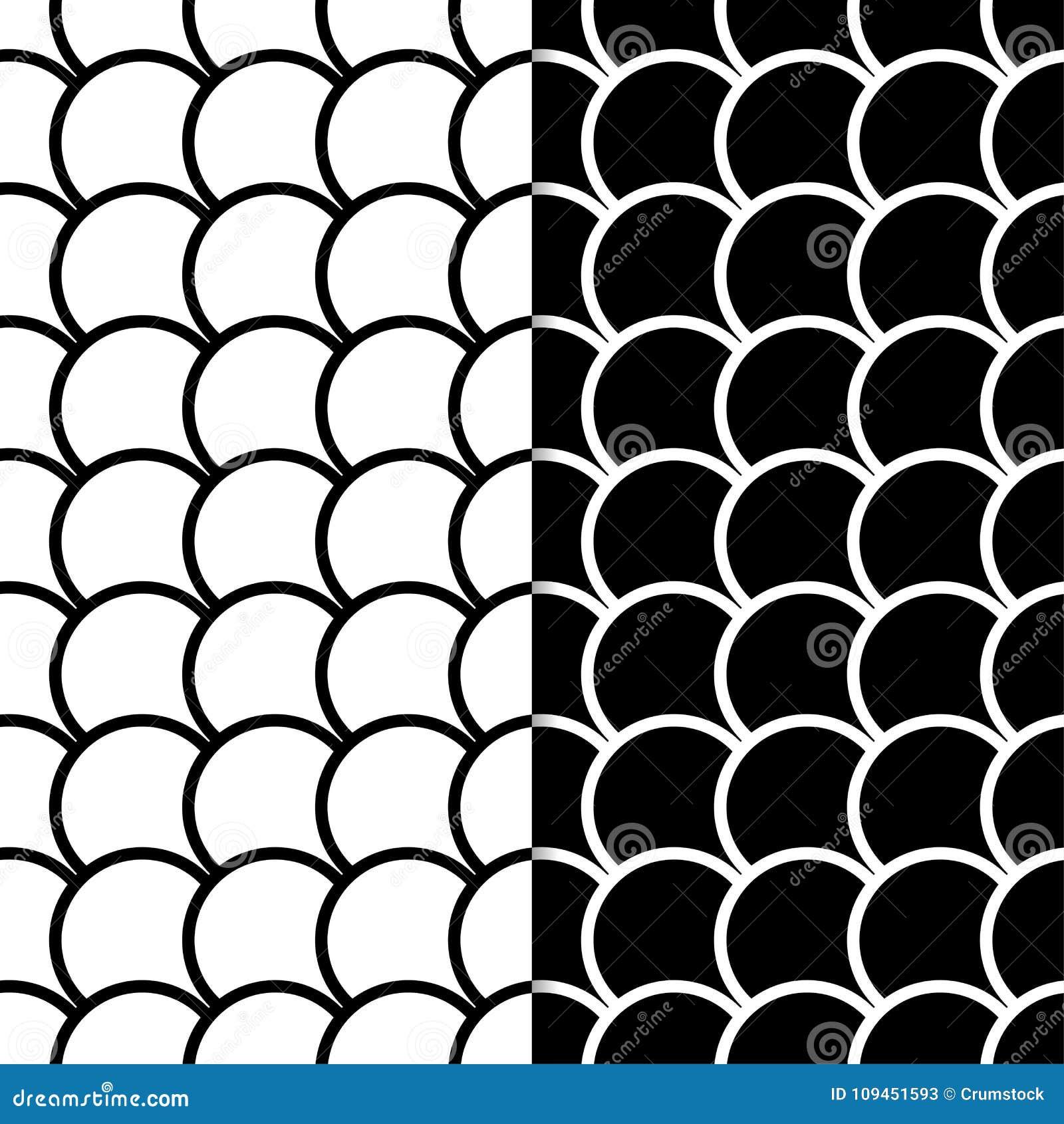 Комплект геометрических орнаментов чернота делает по образцу безшовную белизну