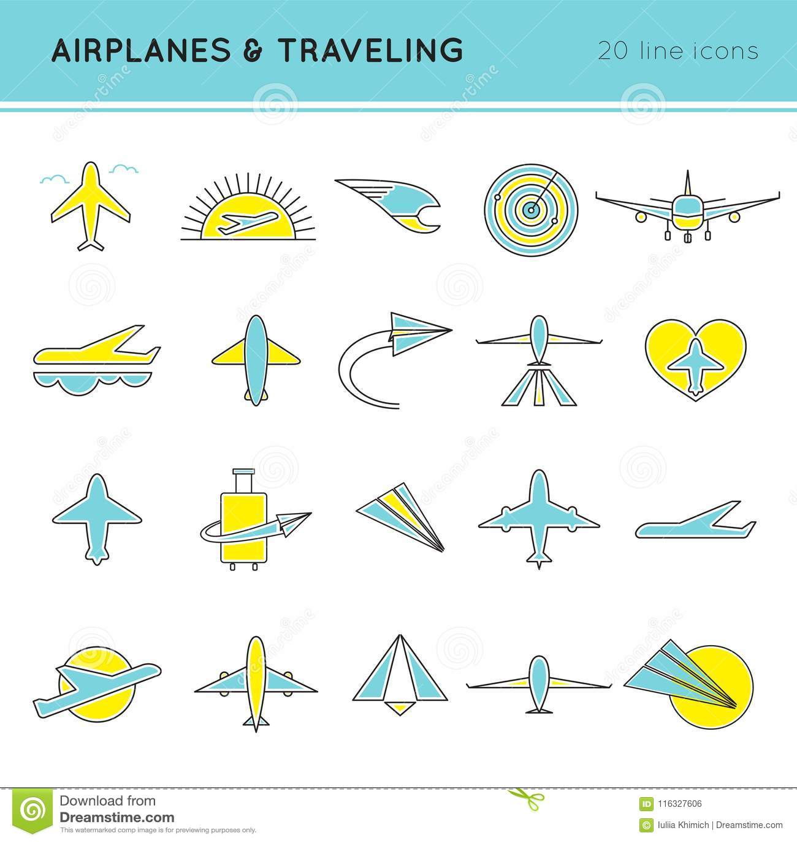 Комплект значка авиакомпаний