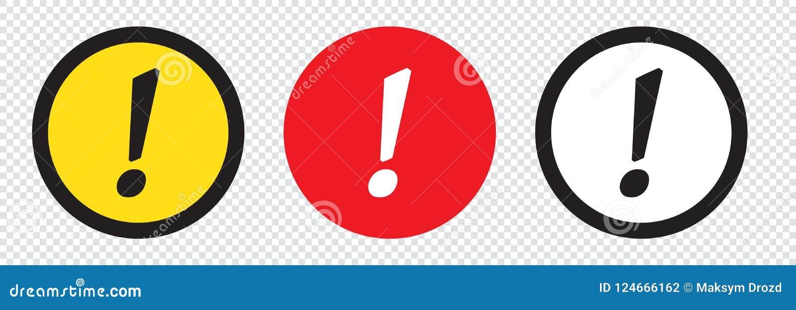 Комплект значков восклицательного знака