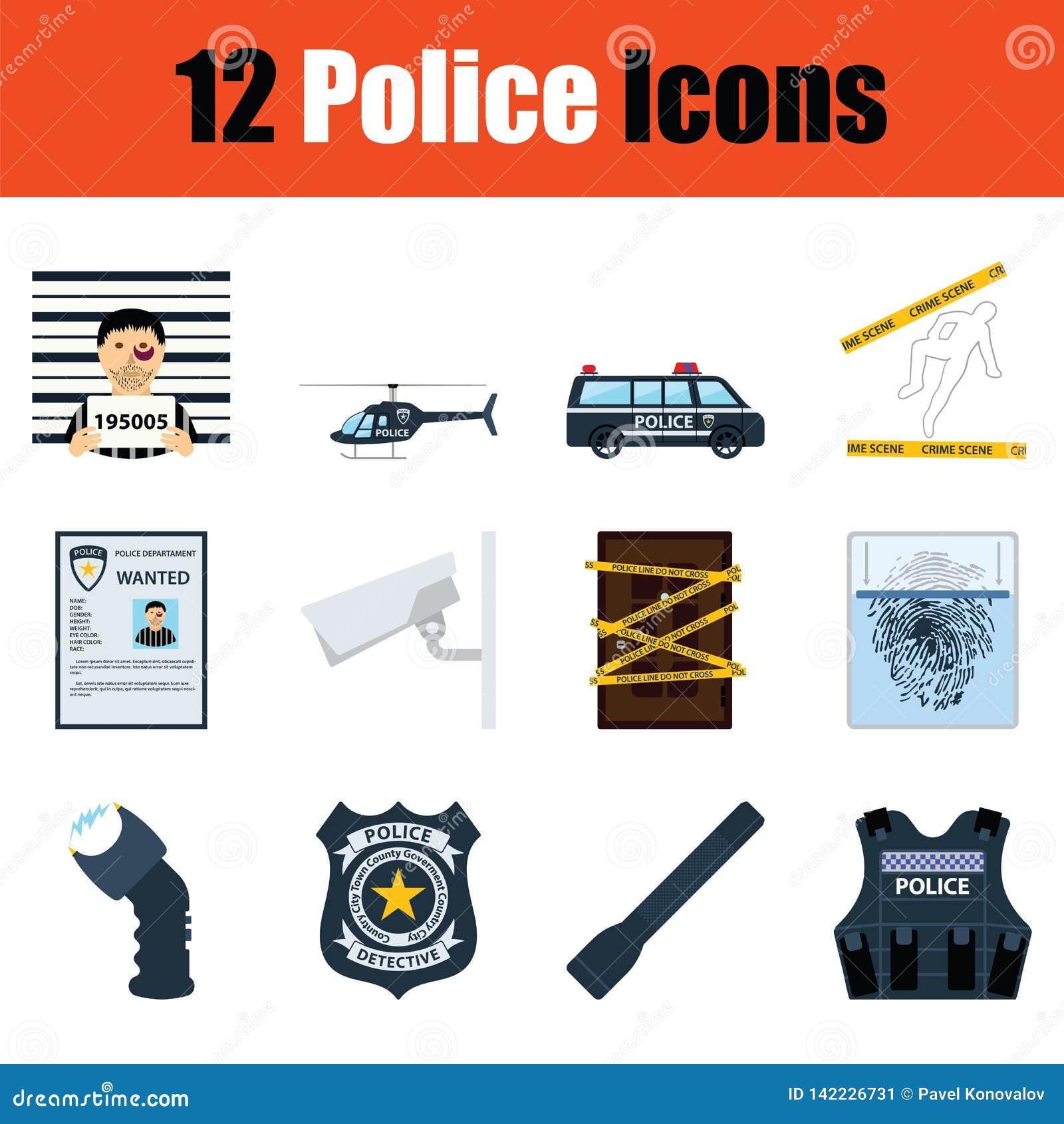 Комплект значков полиции