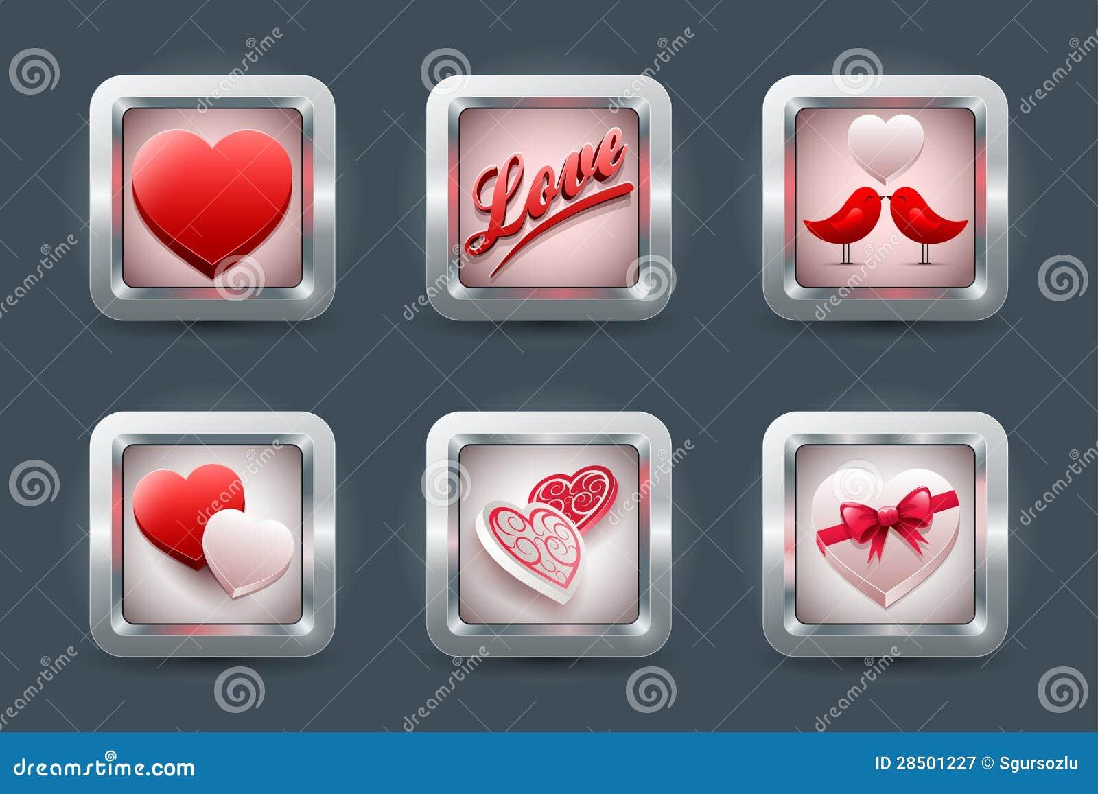 Комплект иконы влюбленности