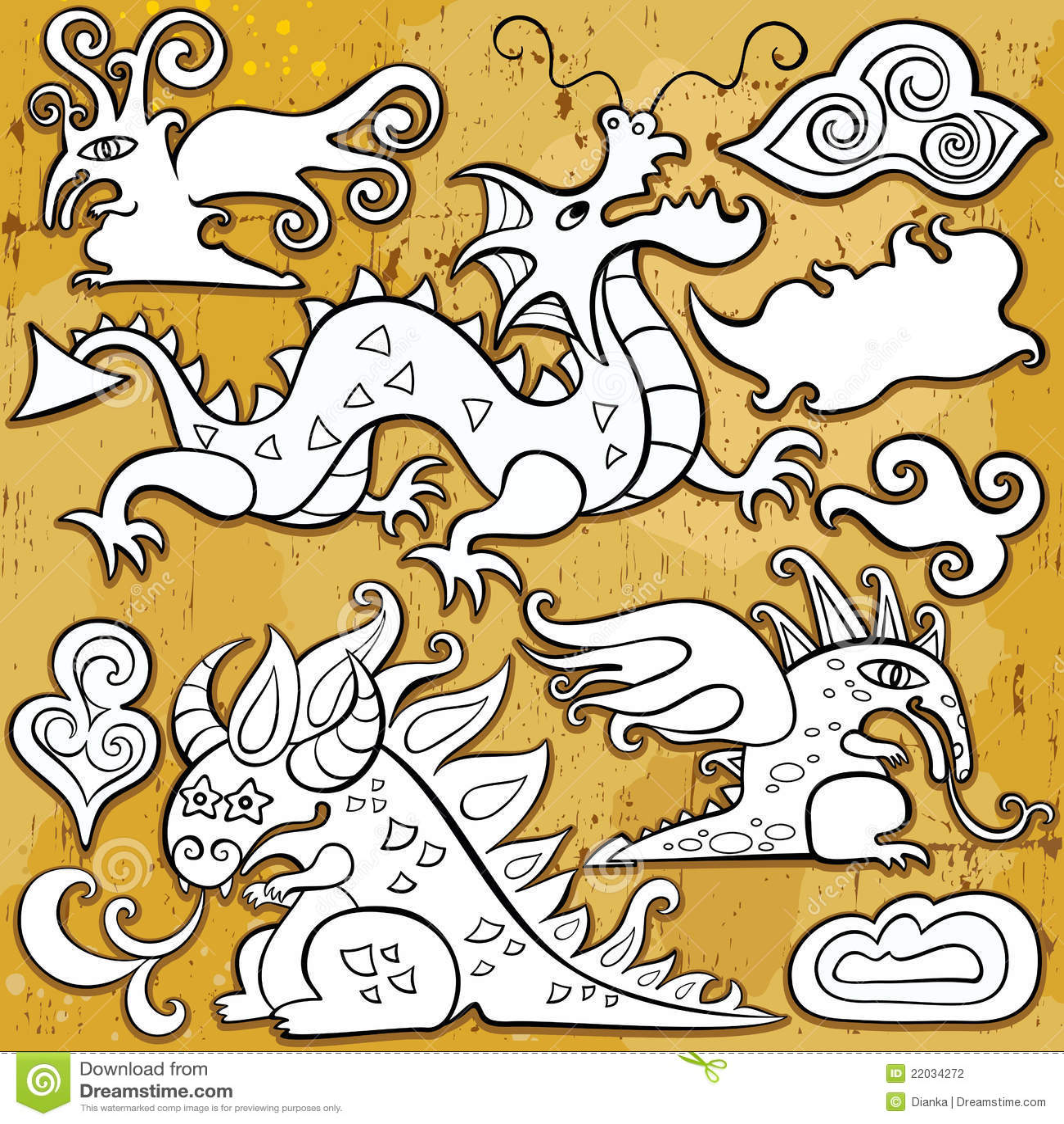 комплект иконы драконов
