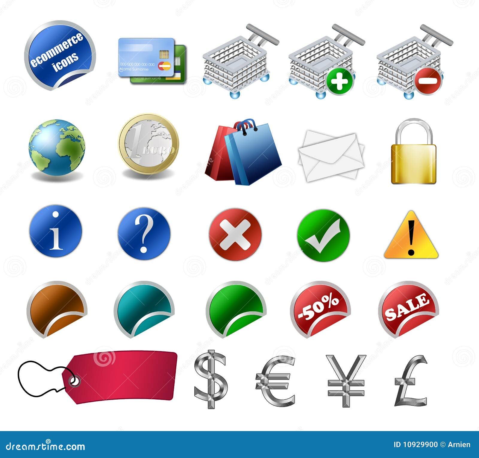 комплект иконы коммерции e