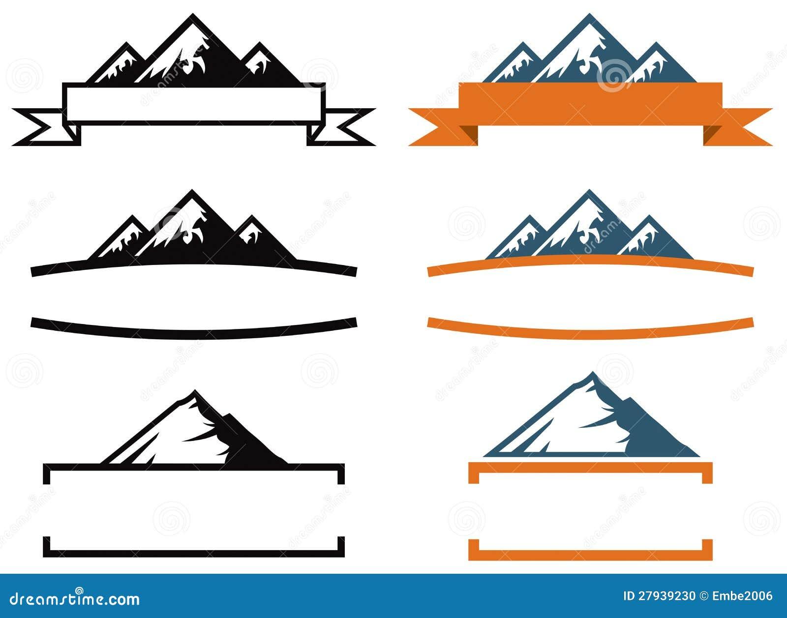 Комплект логоса горы