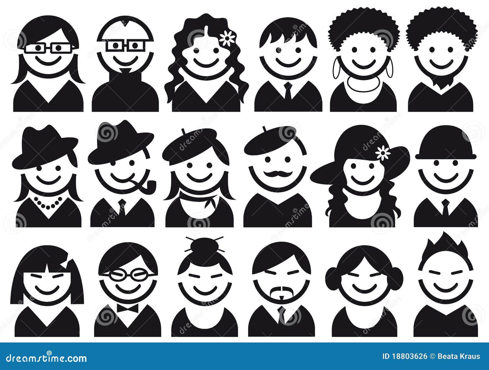 комплект людей иконы