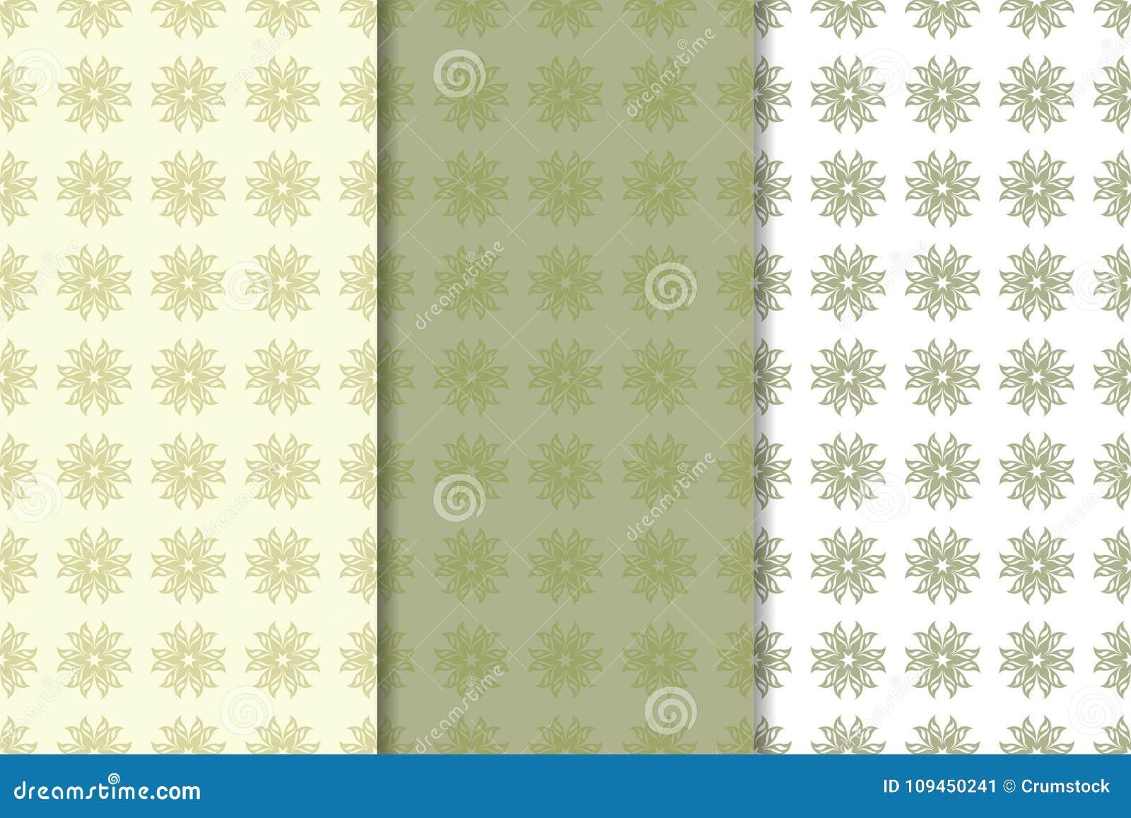 Комплект предпосылок прованского зеленого цвета флористических делает по образцу безшовное