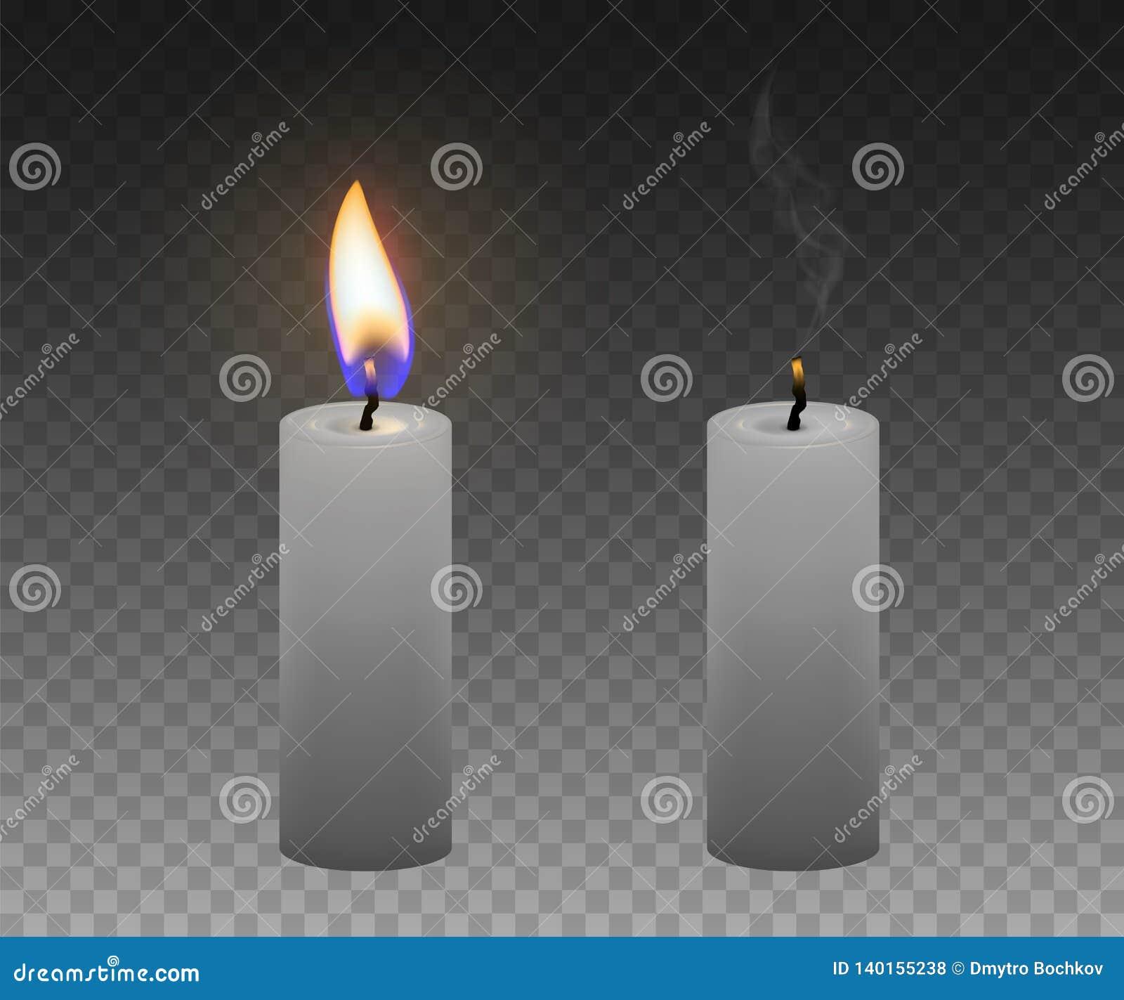Комплект свечек Горящие и потушенные свечи реалистическо