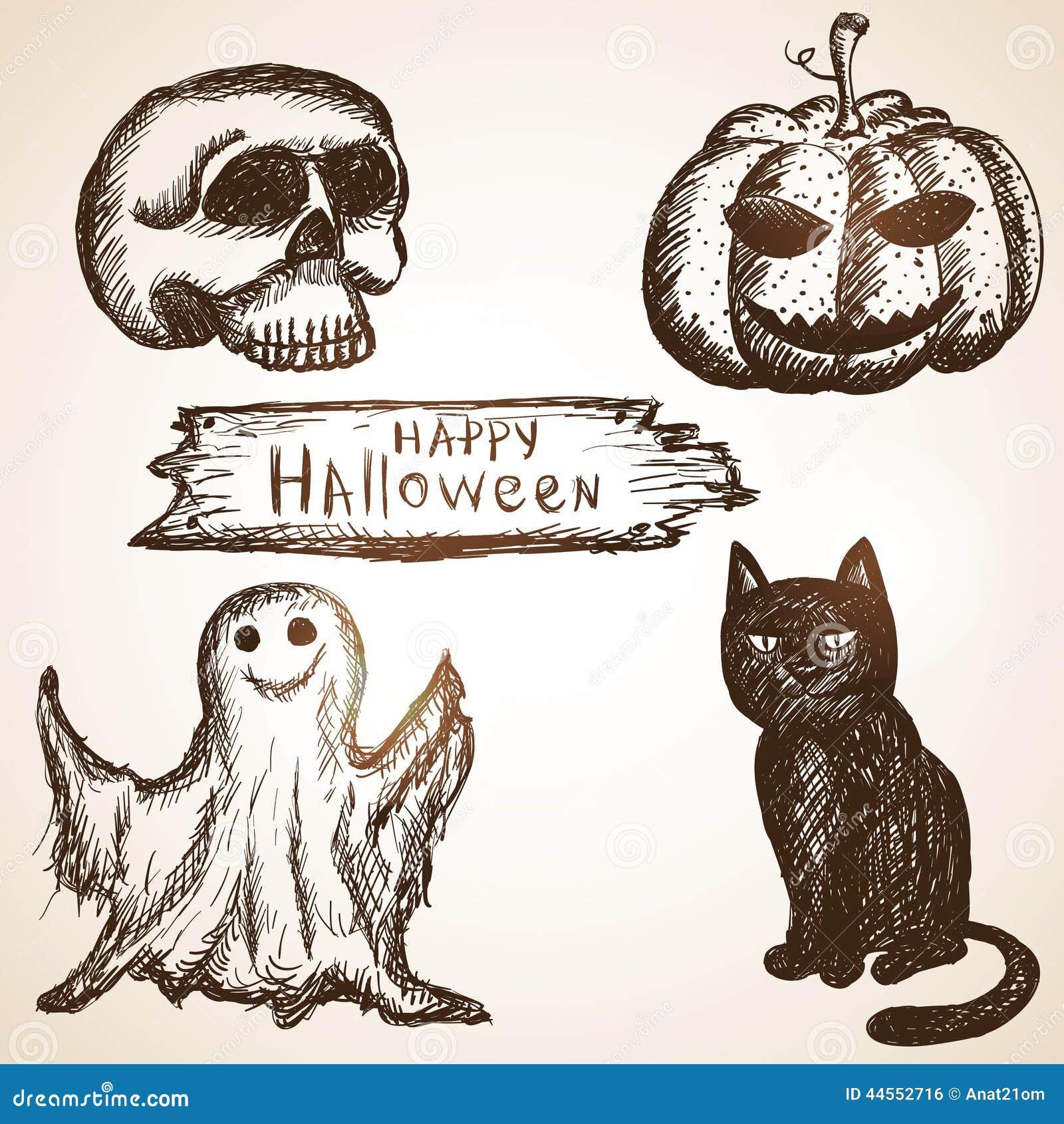 b2a23d2420a3 Комплект состоит из темы хеллоуина тыквы, черного кота, черепа и призрака