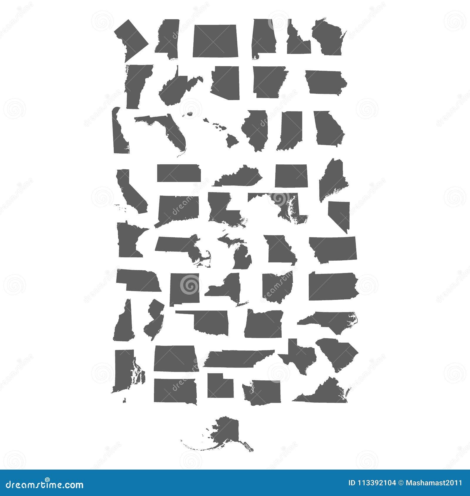 Комплект штатов США