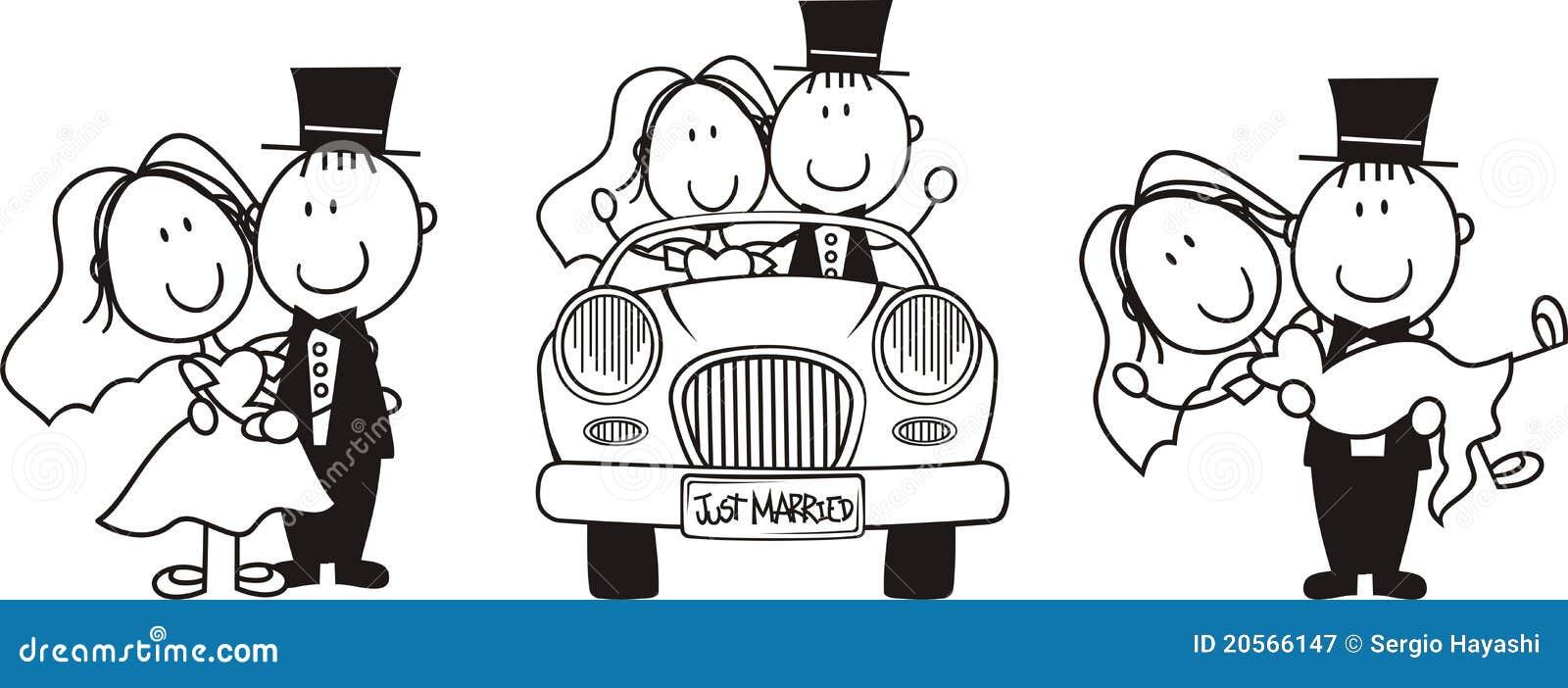 смешные свадебные картинки черно-белые