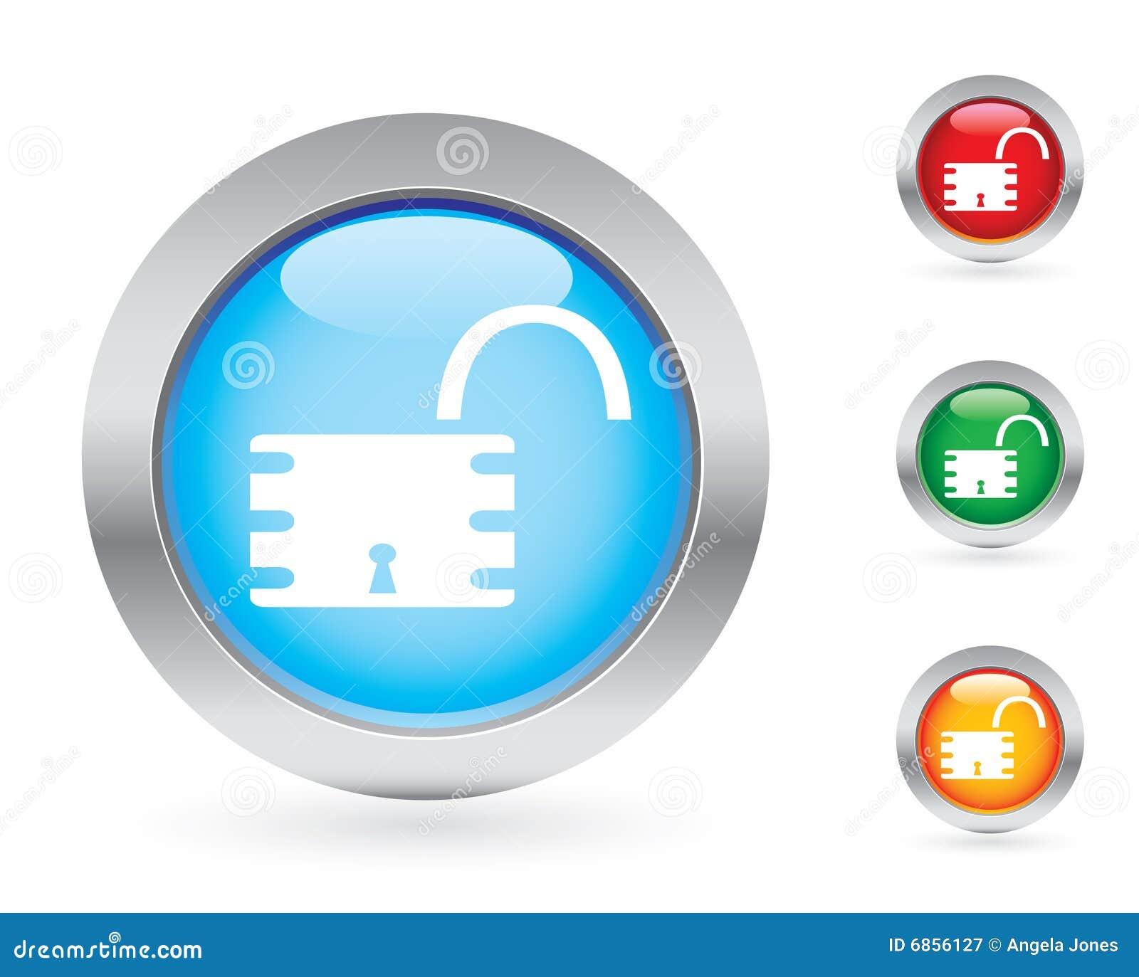 комплект padlock кнопки лоснистый