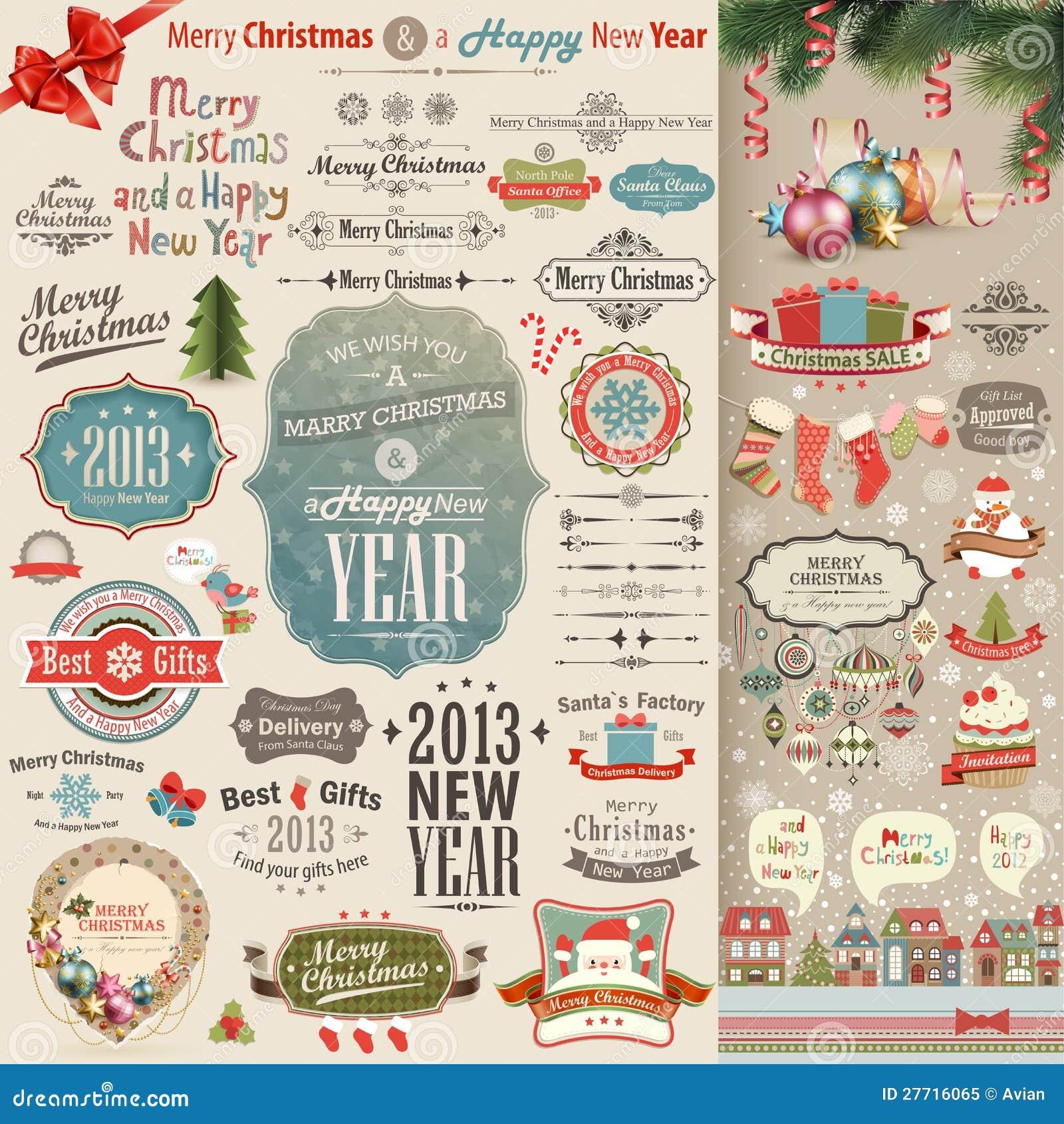 Комплект Scrapbook сбора винограда рождества