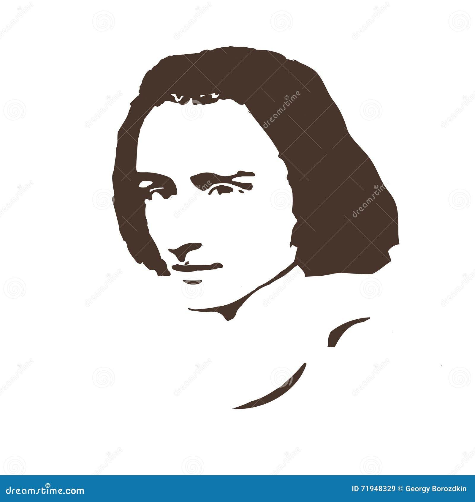 Композитор Ferenc Liszt предпосылка чешет способ хороший как портрет некоторый вектор пользы