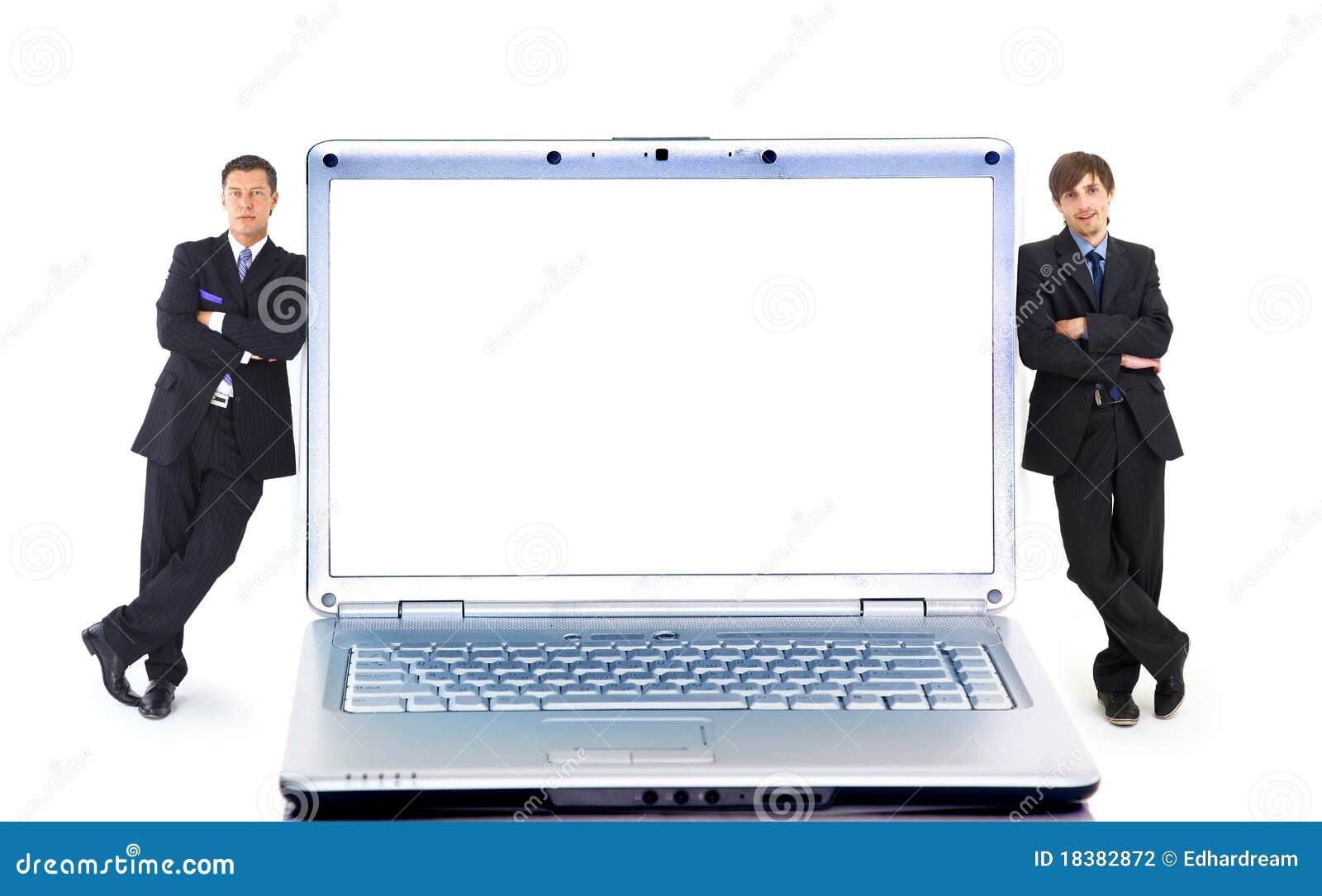 компьтер-книжка самомоднейшие 2 businessmans