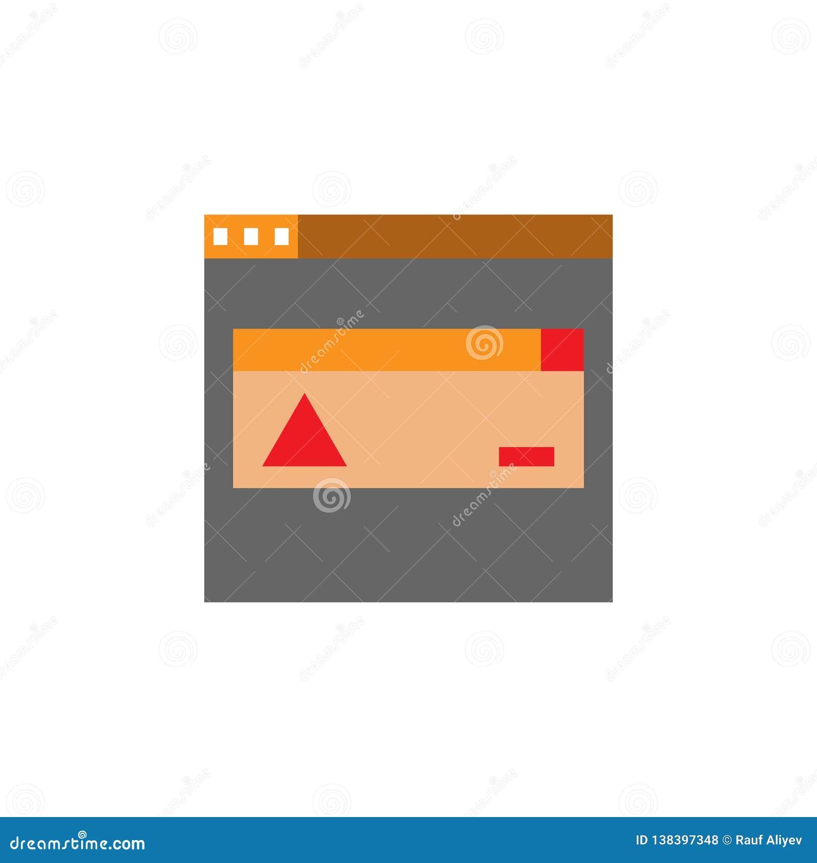 Компьютер, значок ошибки Элемент значка Desing сети для мобильных приложений концепции и сети Детализированный компьютер, значок
