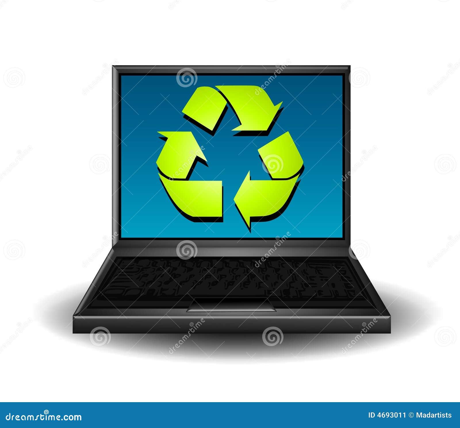 компьютер рециркулирует символ
