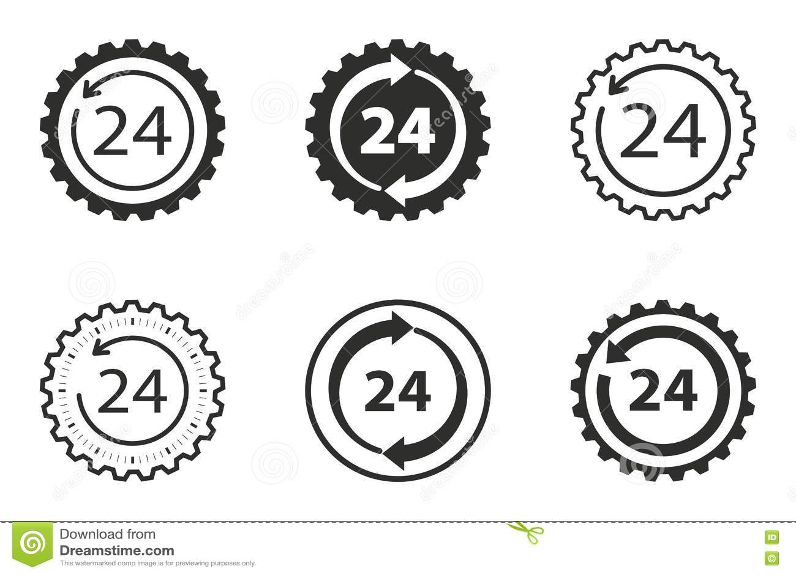 Download 24 комплекта значка обслуживания часа Иллюстрация вектора - иллюстрации насчитывающей consult, извещение: 72285034