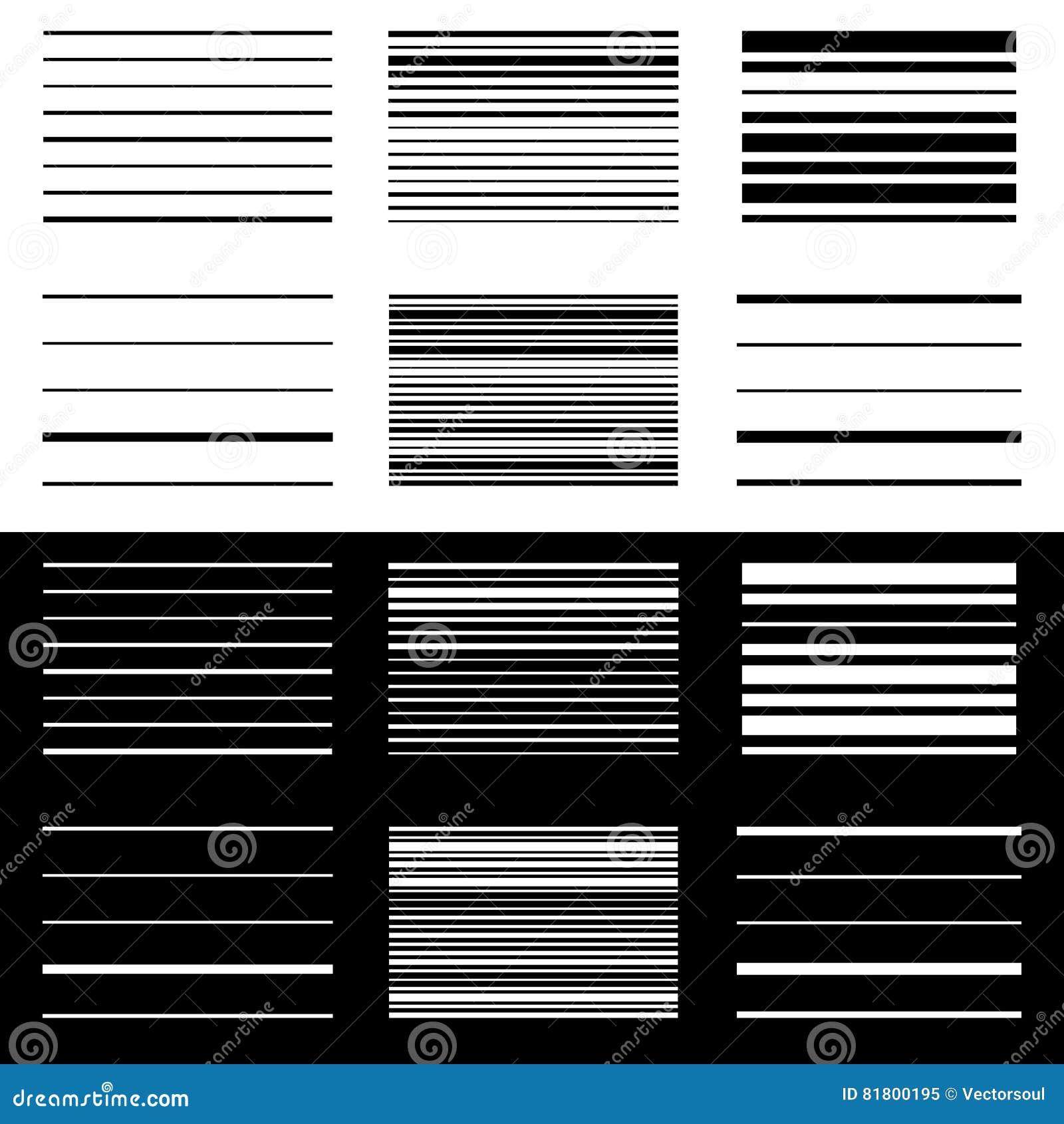 Комплект абстрактных геометрических элементов с линиями в черно-белом