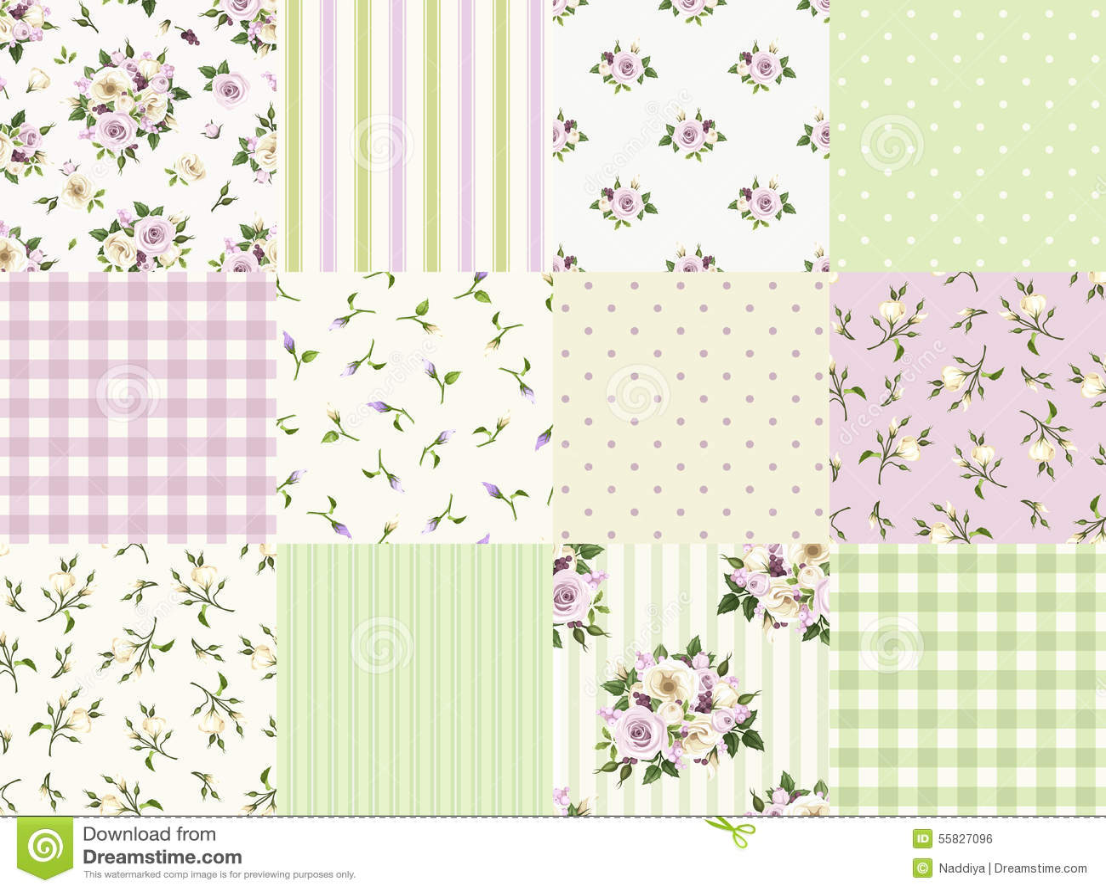 Комплект безшовных флористических и геометрических картин для scrapbooking также вектор иллюстрации притяжки corel