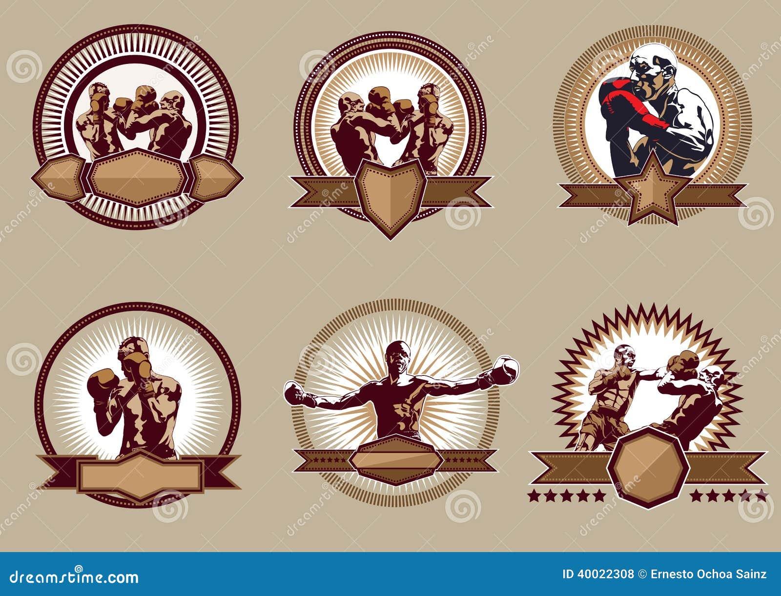 Комплект боевых значков или эмблем спорта