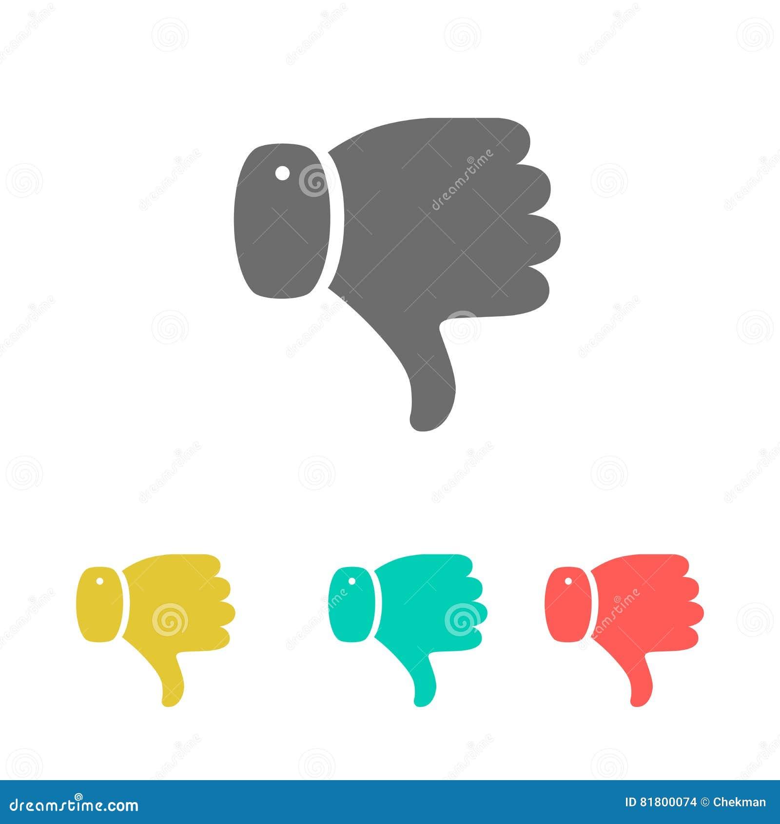 Комплект большого пальца руки значков вниз также вектор иллюстрации притяжки corel