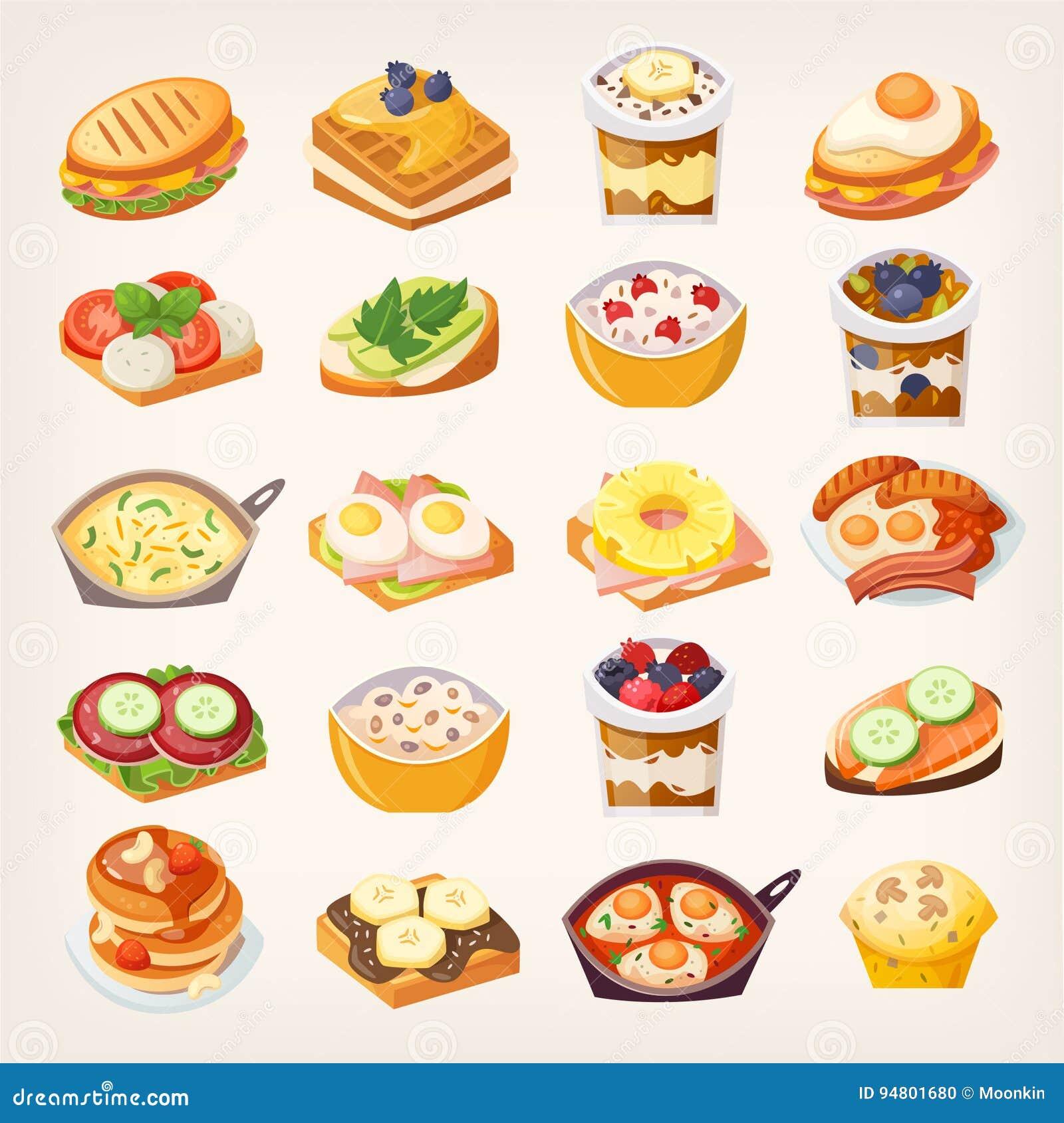 Комплект блюд завтрака