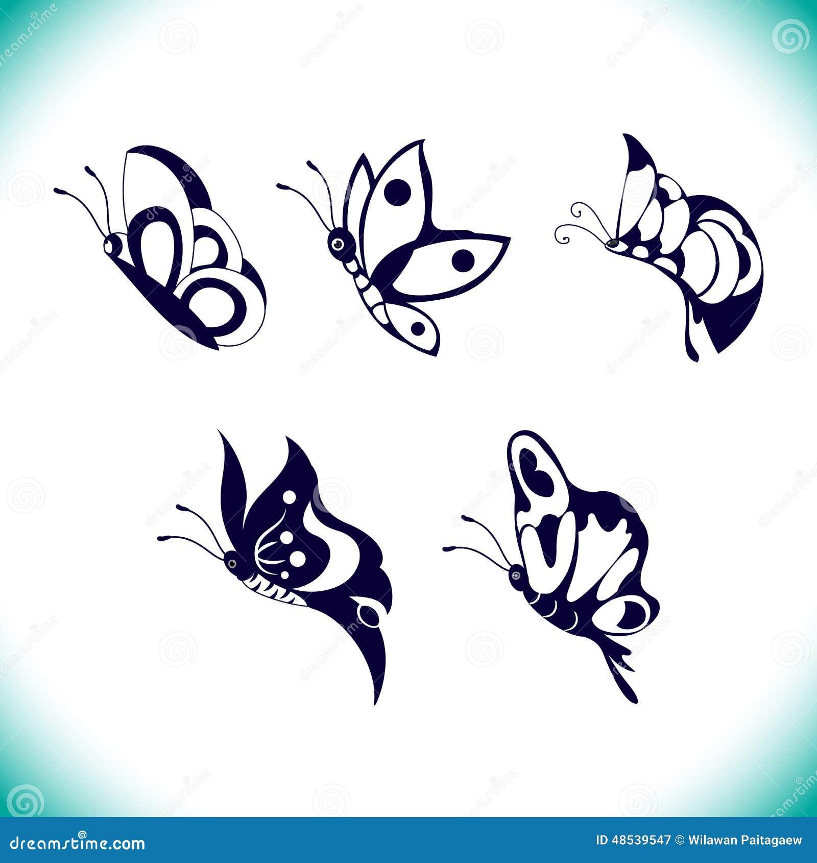 Комплект вектора бабочки