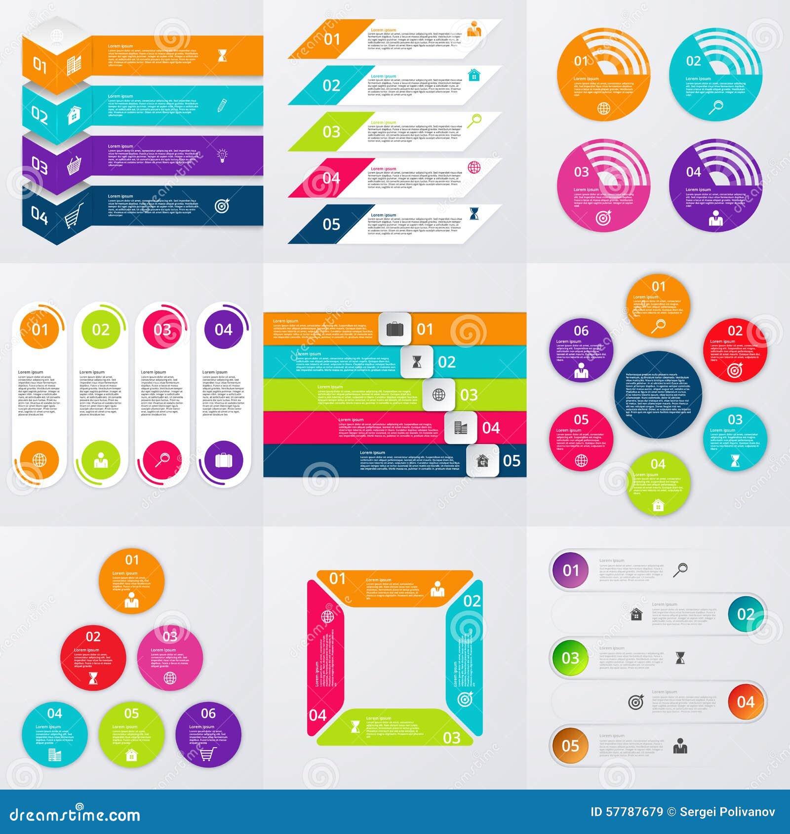 Комплект вектора запаса infographics